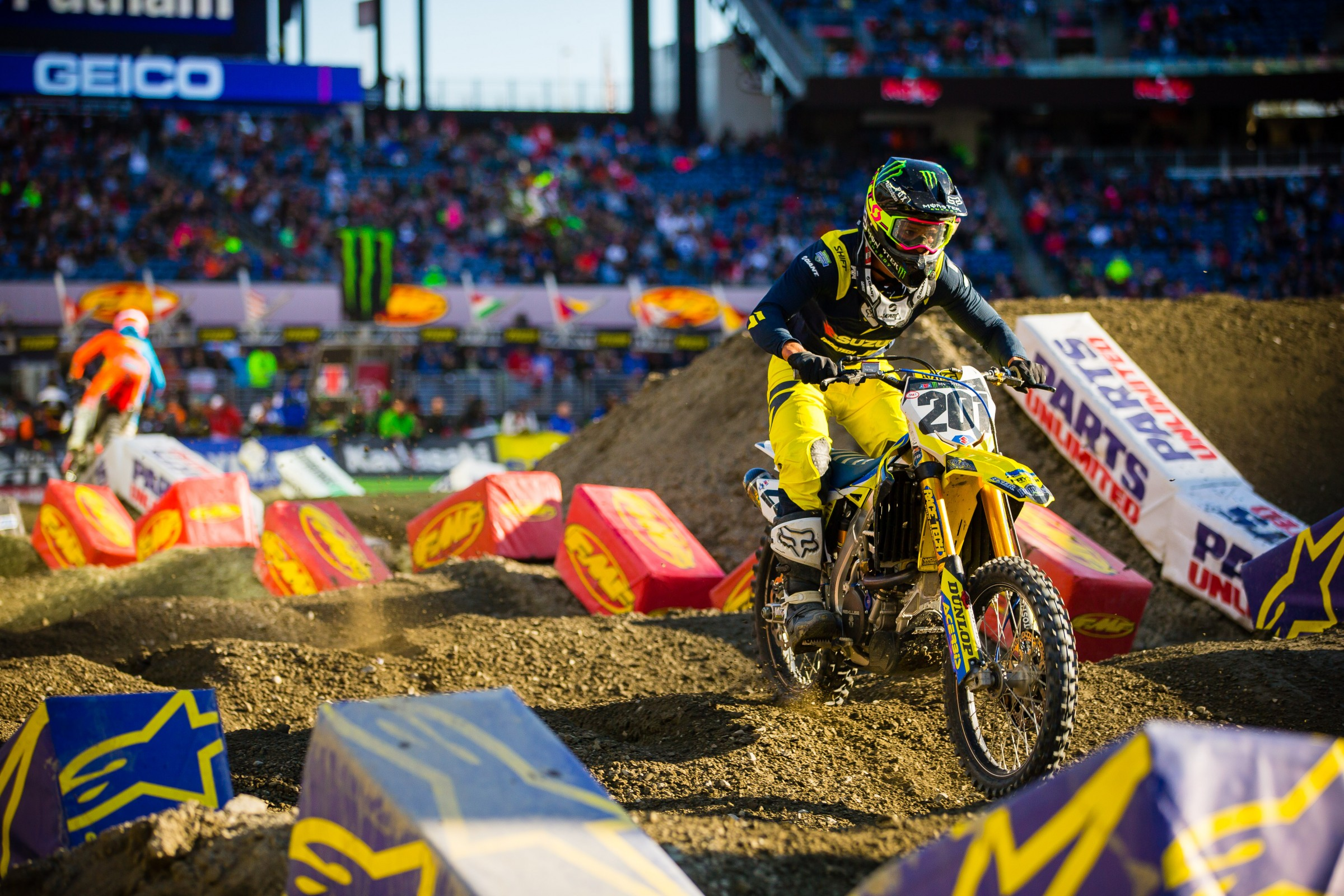 The team is also helping Frenchman Cedric Soubeyras, who placed 15th in 450SX at Foxborough.