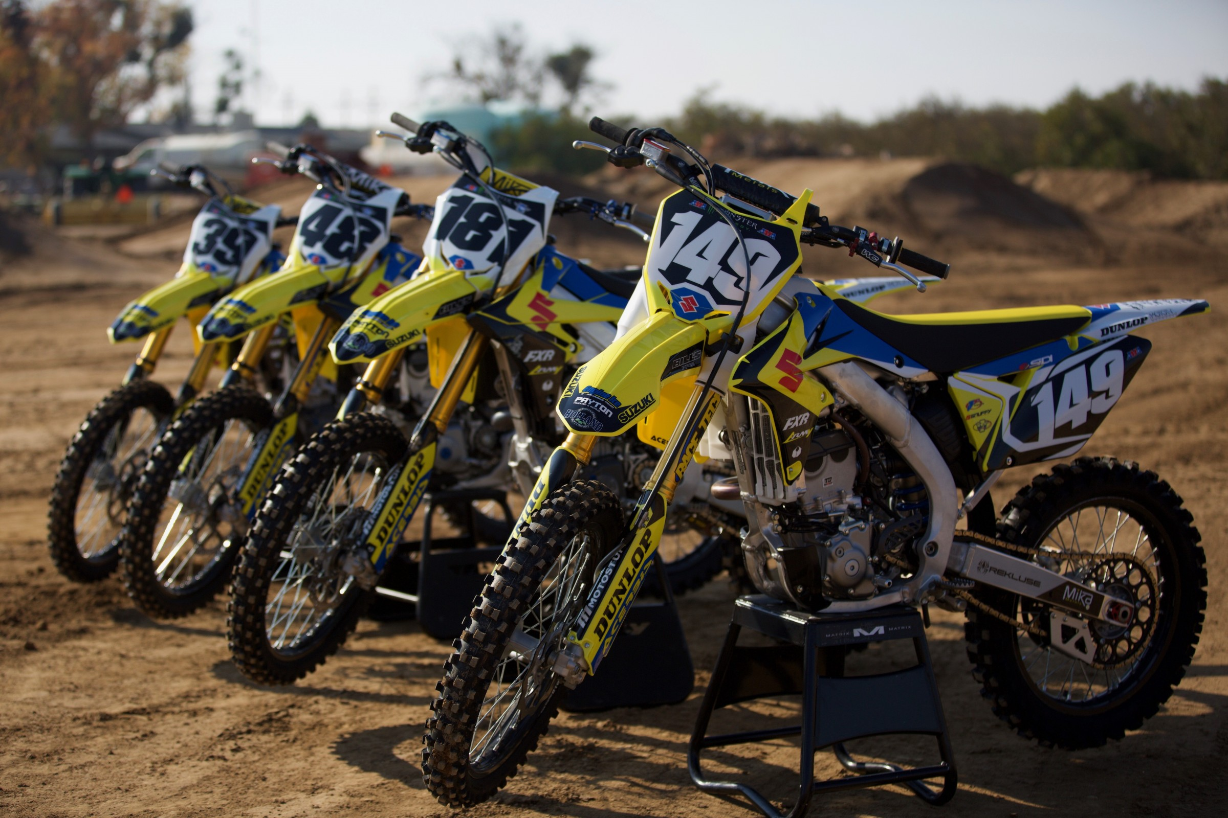 The H.E.P. Motorsports Suzuki team consists of Kyle Cunningham (#39), Henry Miller (#48), Dustin Pipes (#181), Tallon LaFountaine (#149), and recent addition Cedric Soubeyras.