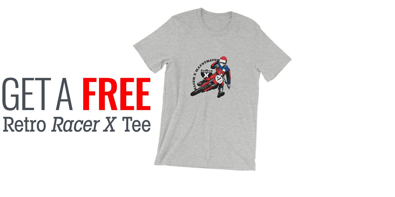 Subscribe to Racer X Illustrated and get Retro Racer X Tee