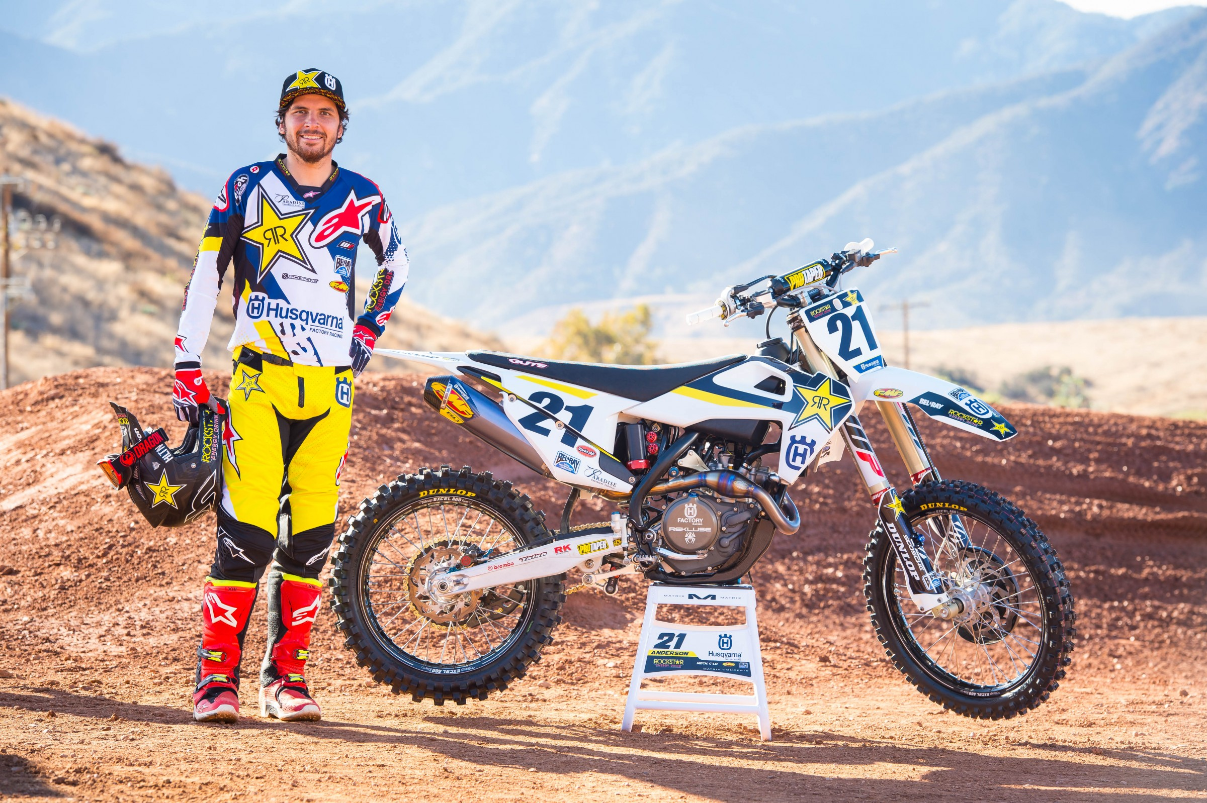 Anderson is coming off his 2018 Monster Energy Supercross Championship title win.