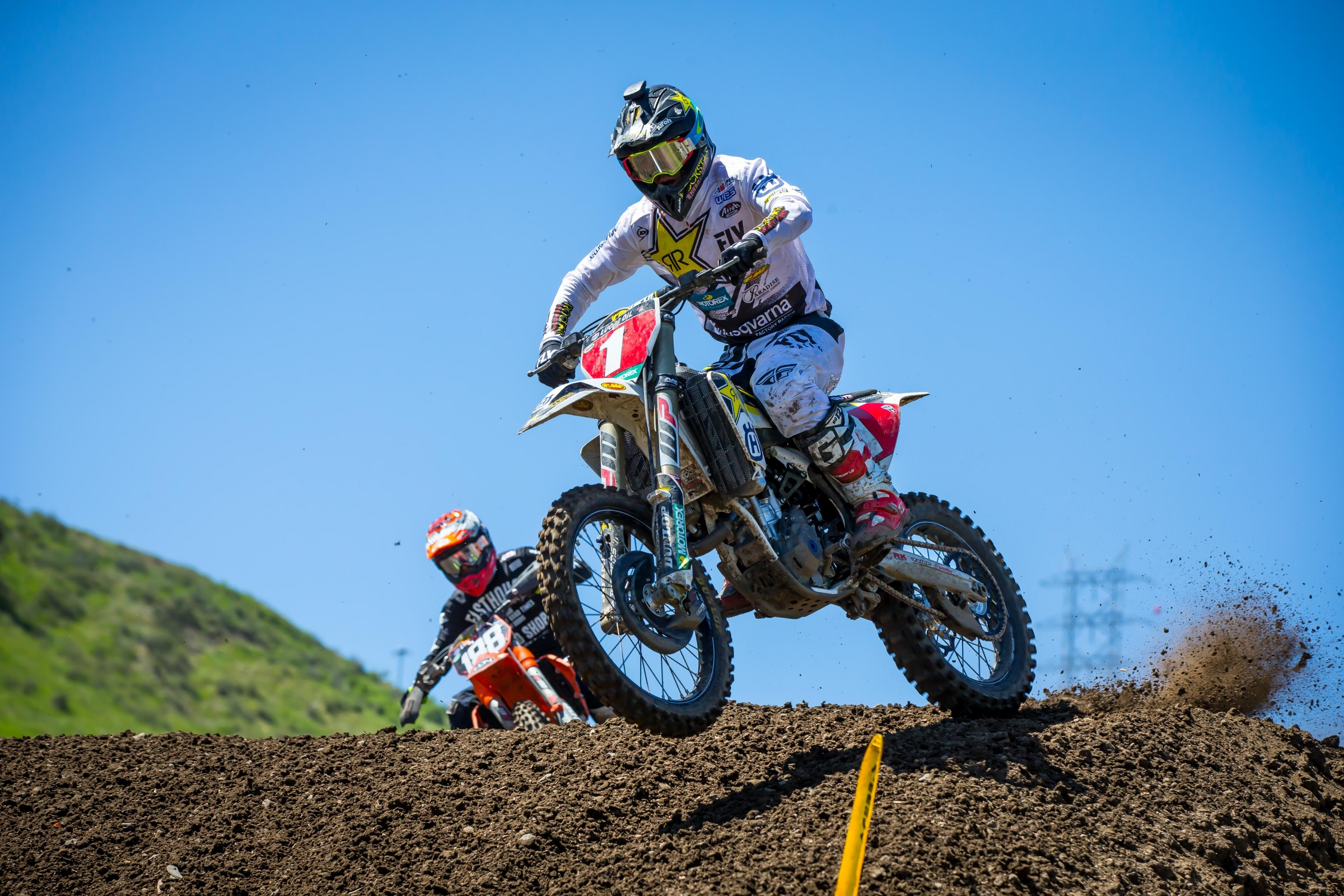 Osborne placed 20th in the second moto after sustaining a shoulder injury.
