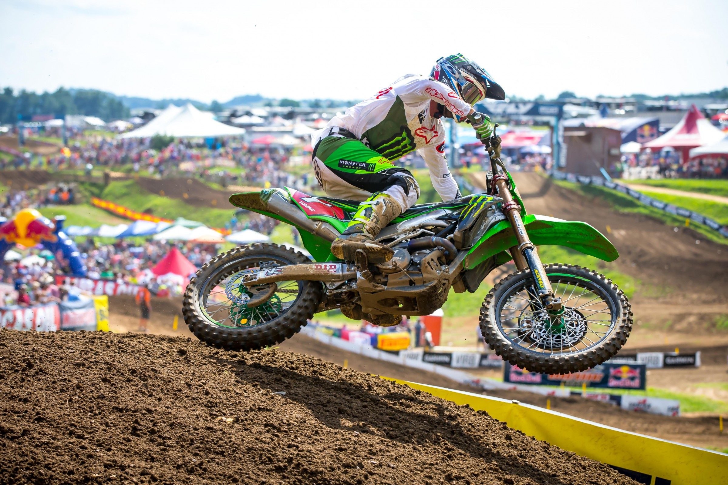 The fastest lap time of the season so far was set by Tomac in moto two at Muddy Creek.
