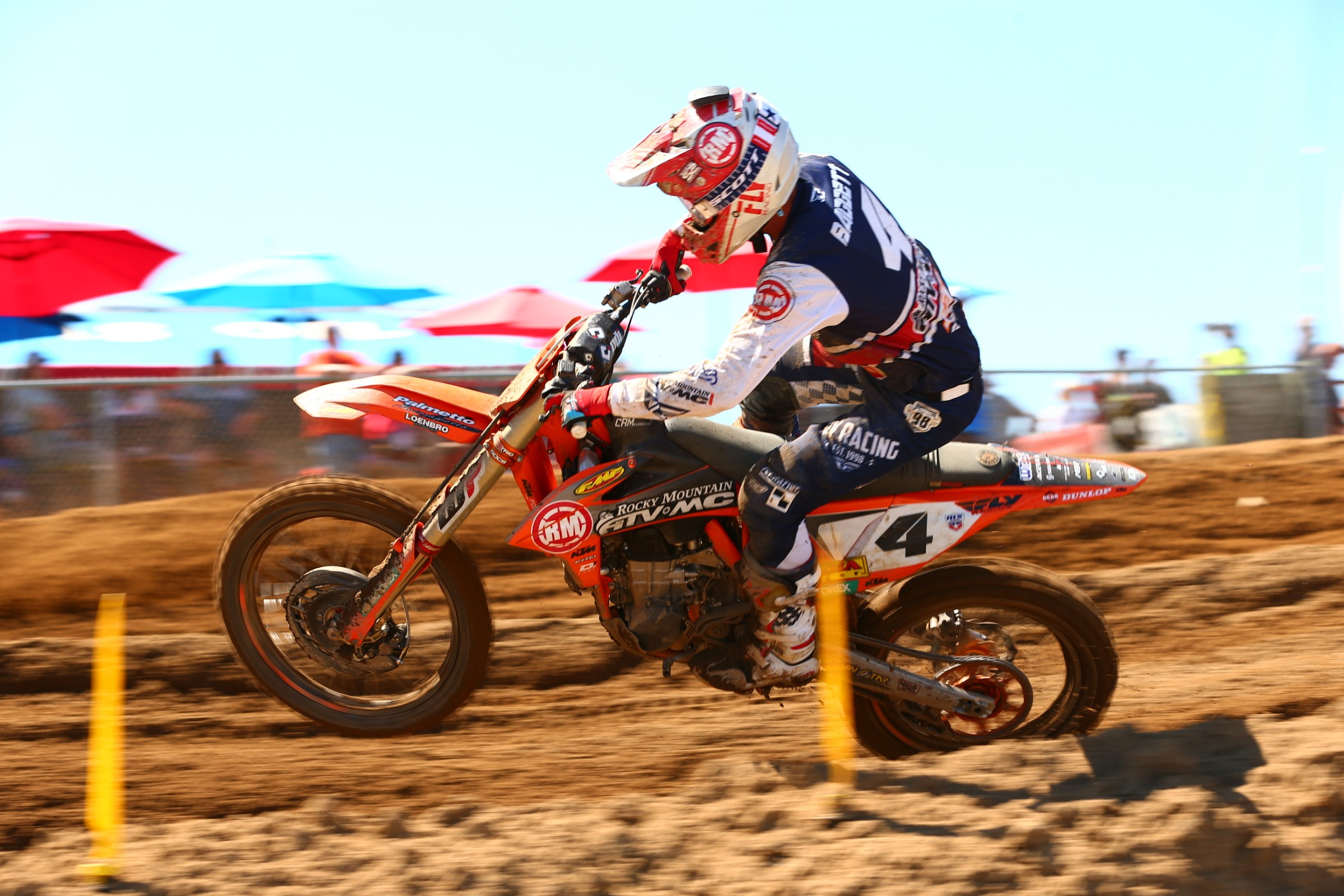 Blake Baggett finished fourth overall on the day.