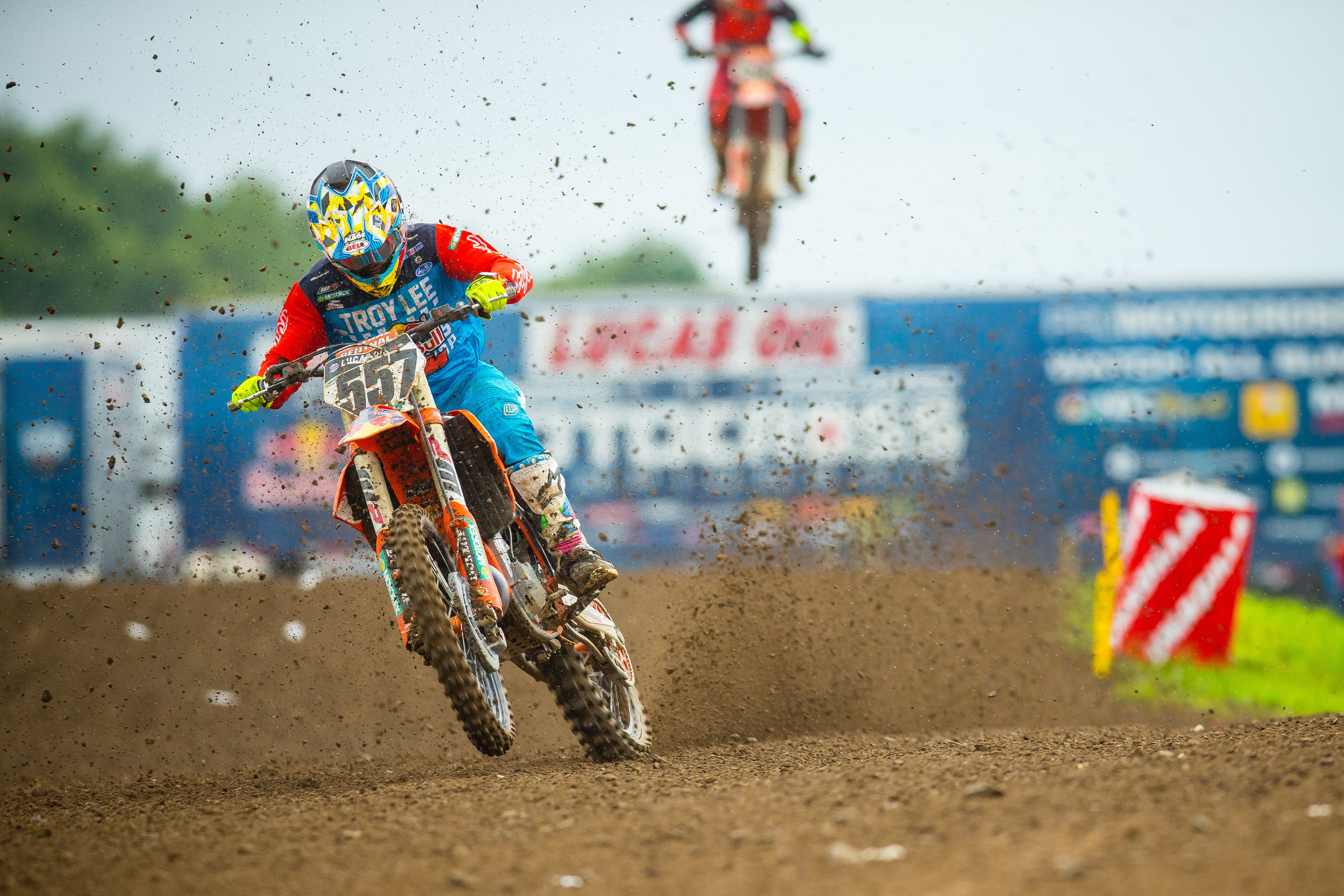 Russell went 6-30 for 13th on the day after crashing into Barcia in the second moto.