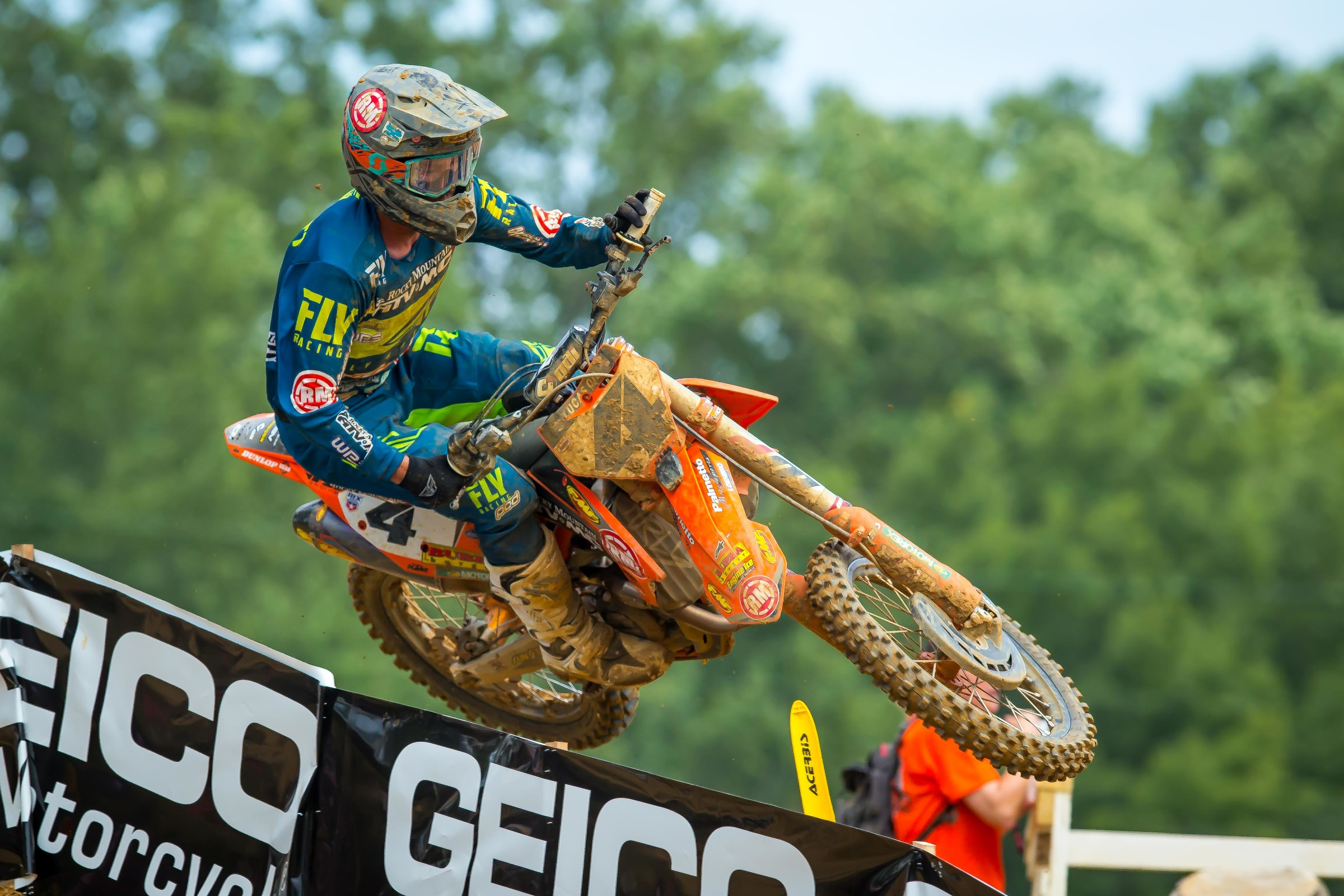 Baggett earned his best moto finish of the season with second place in moto two at Budds Creek.