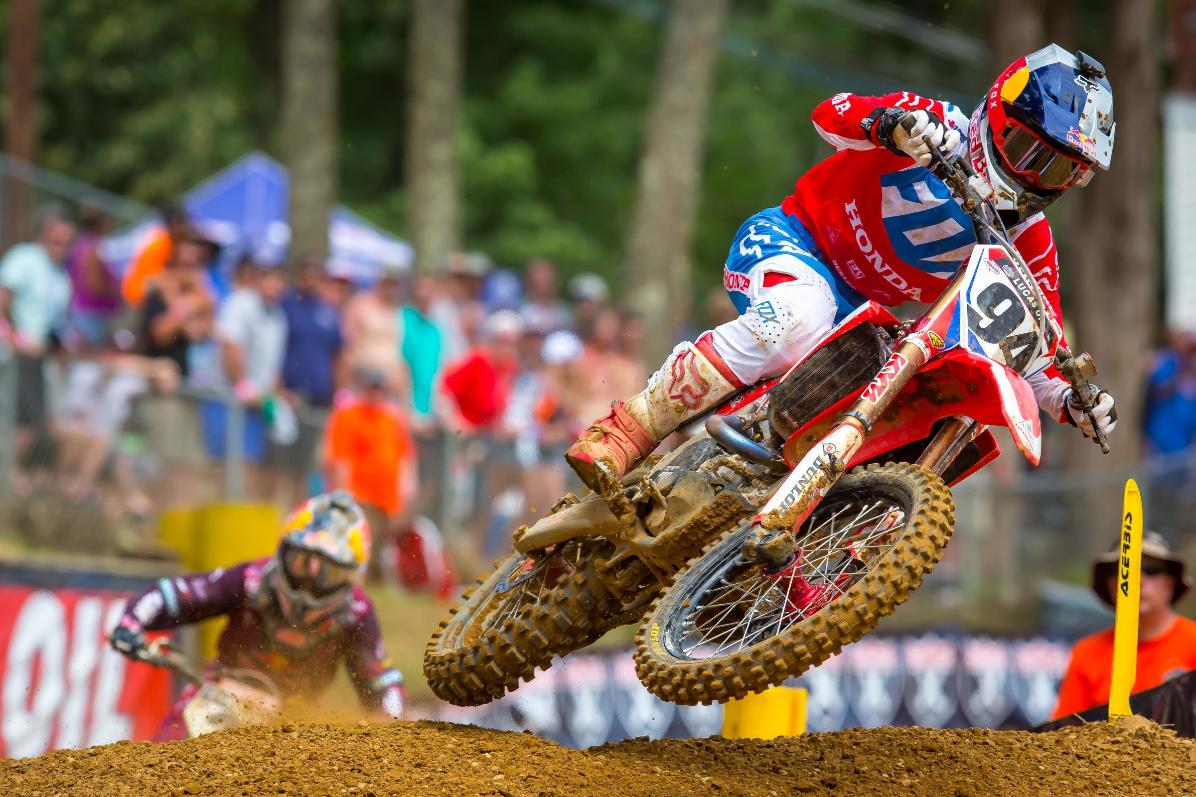 Roczen returned to podium form with a second-place finish after taking seventh overall at Unadilla the previous weekend.