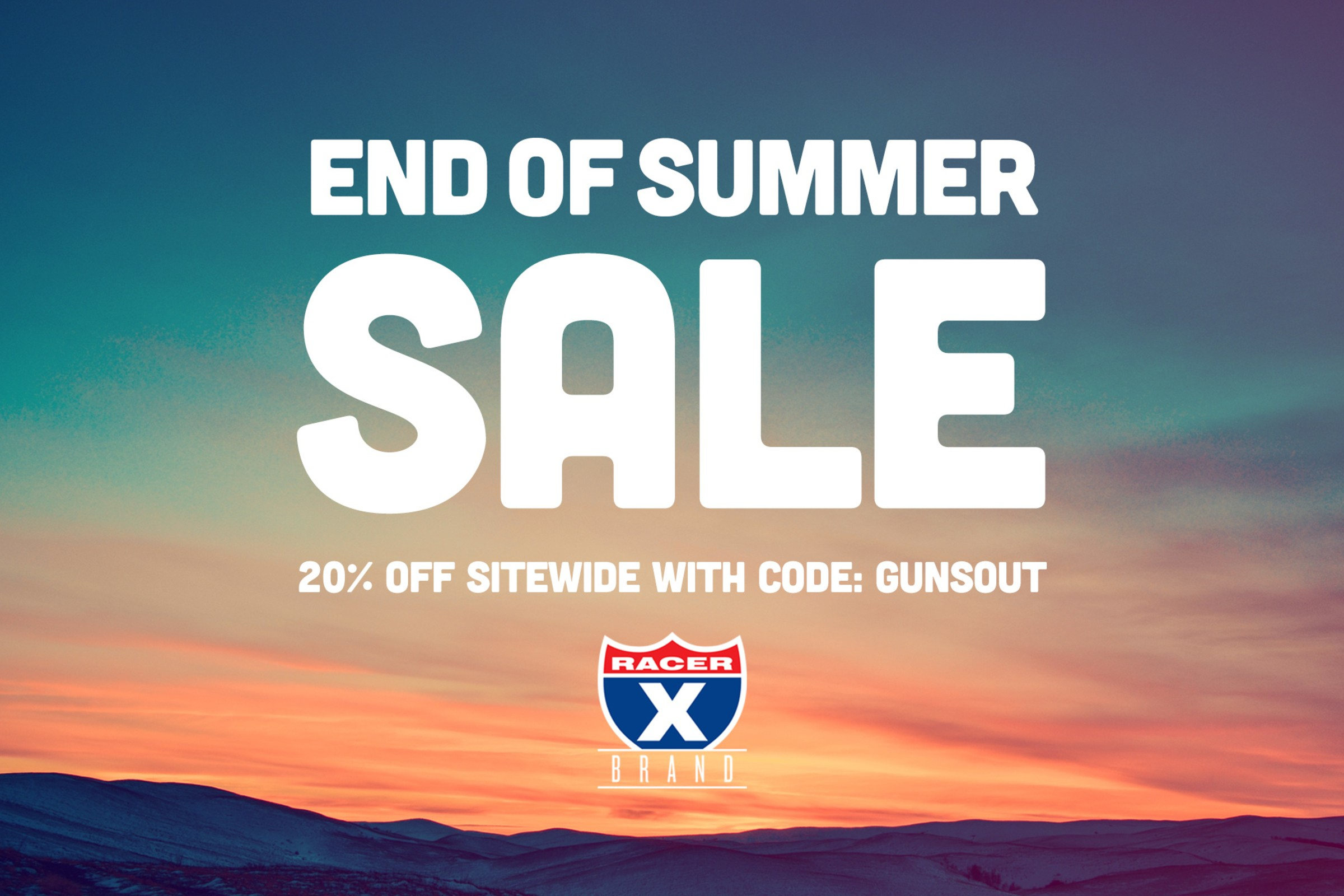 End of Summer Sale! Take 20% Off Sitewide