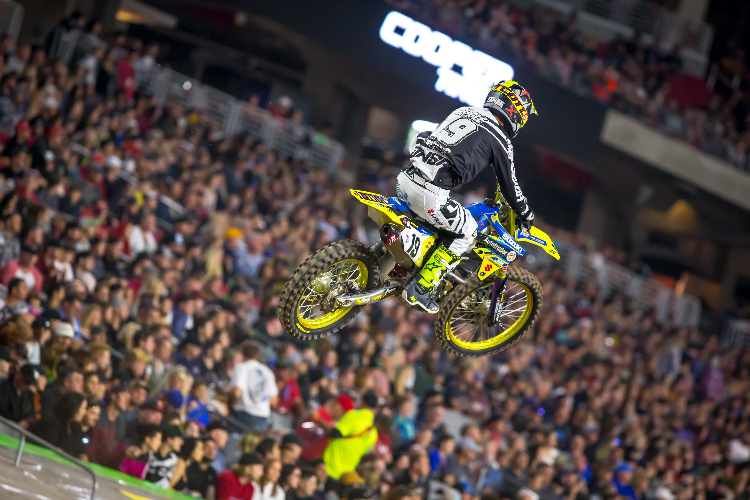 Bogle missed most of his only season with JGR Suzuki due to injury.