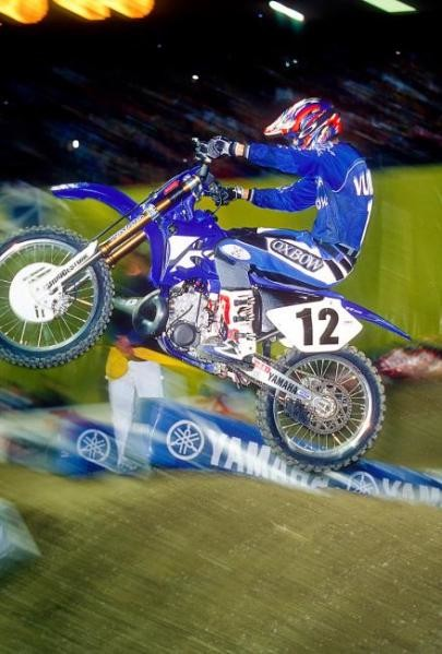 David Vuillemin won the first-ever THQ FIM World Supercross round in 2002 at Geneva.