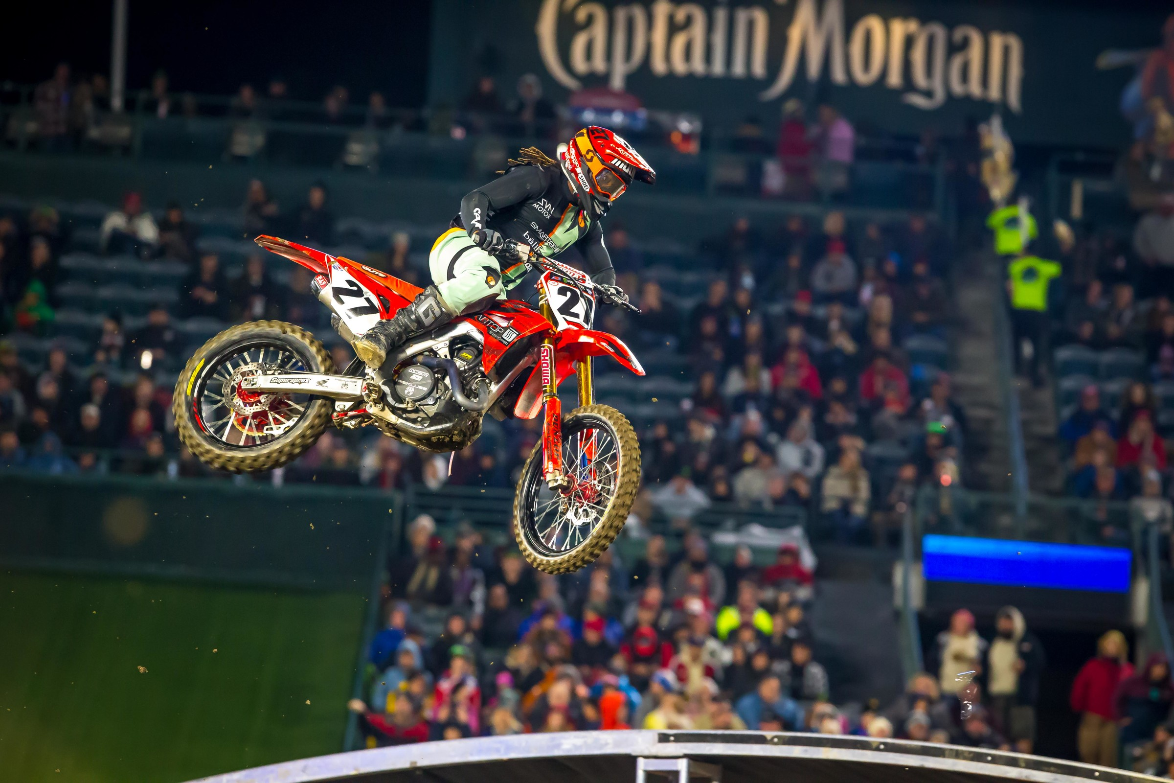 Malcolm Stewart had the third fastest qualifying time in the 450SX at Anaheim 1 and was near the top of the pack in the main event before several miscues dropped him to a seventh place finish.