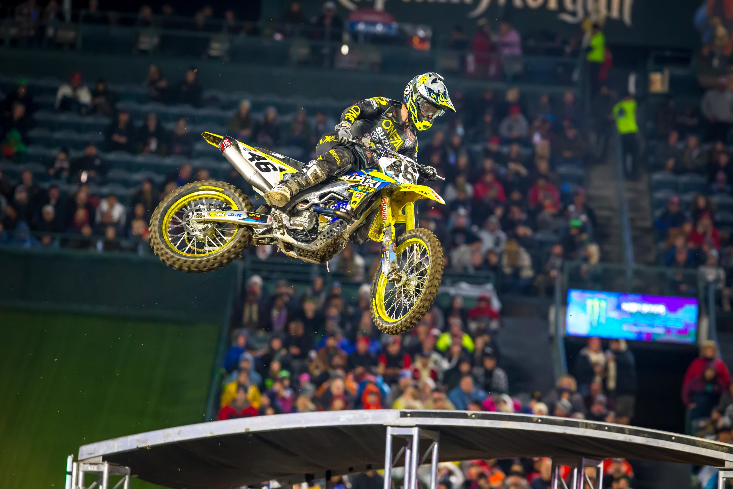 Justin Hill finished 15th at Anaheim 1.
