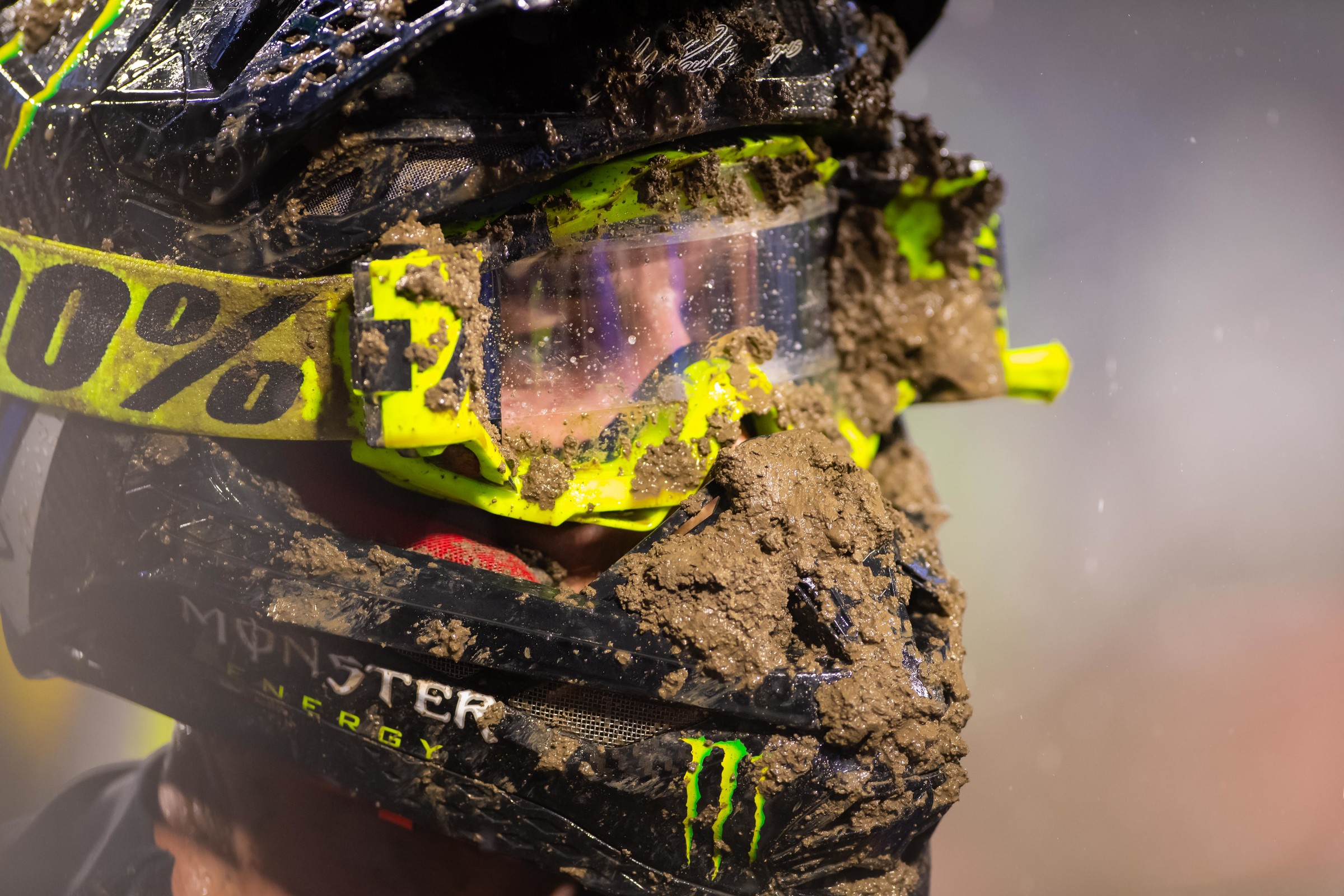 All riders had to deal with the mud, but it affected some more than others.