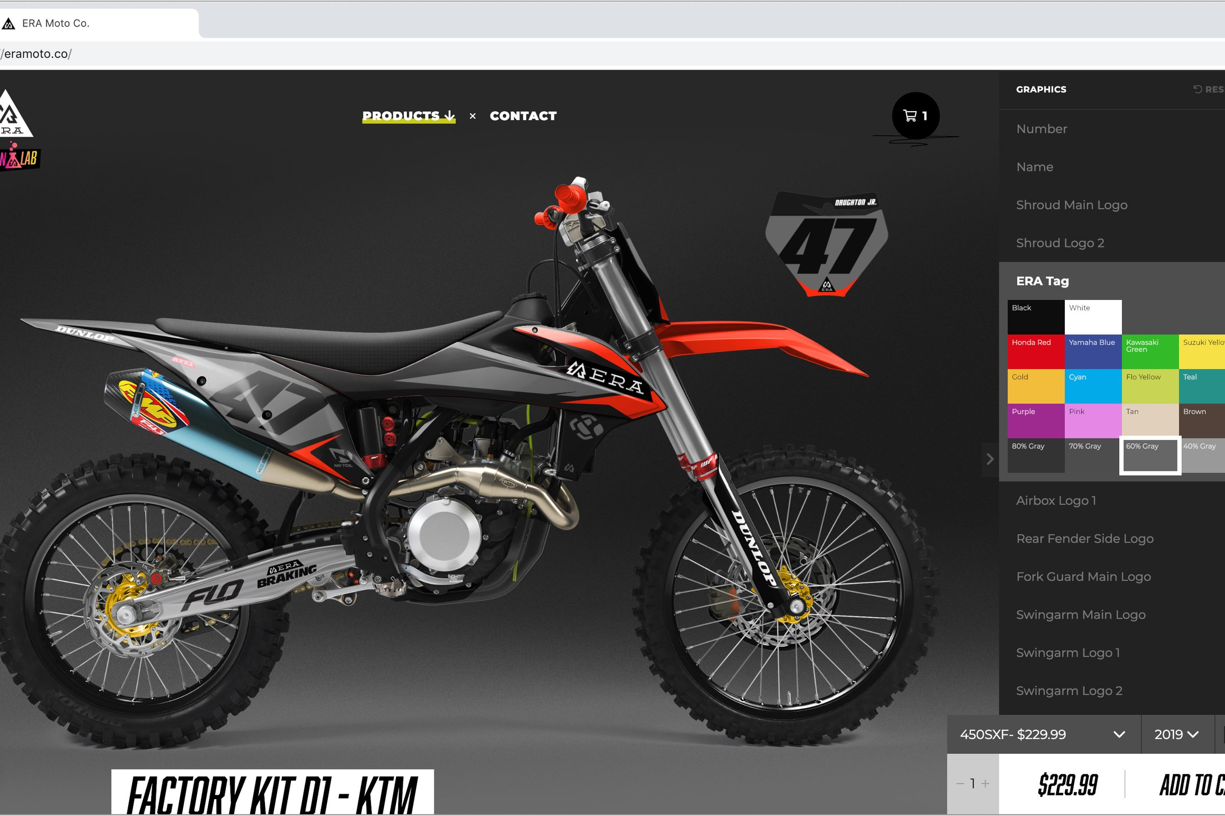 ERA Moto Co. Debuts Motocross Graphics Design Lab