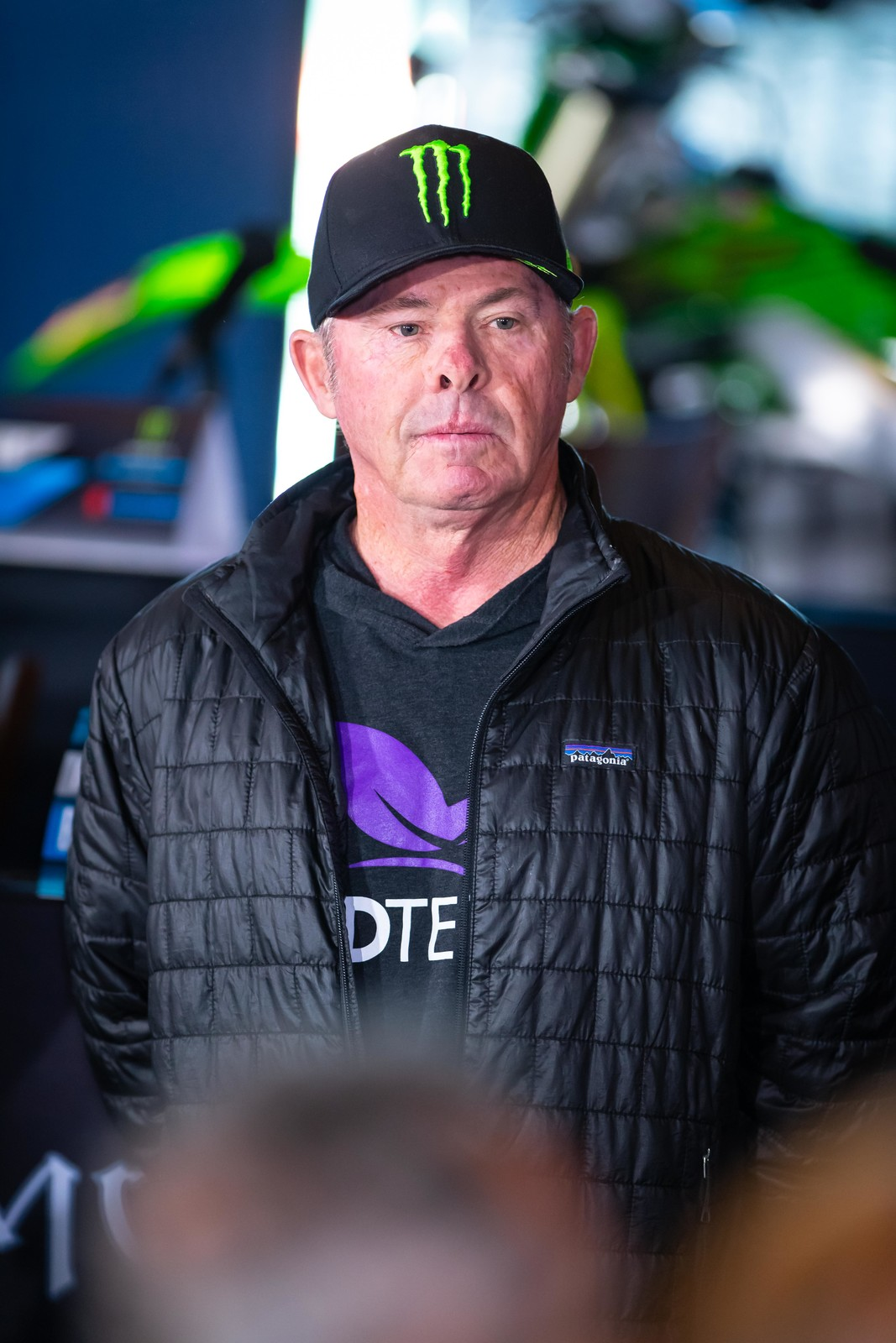 Jeff Ward watches the 2019 Anaheim 1 press conference.
