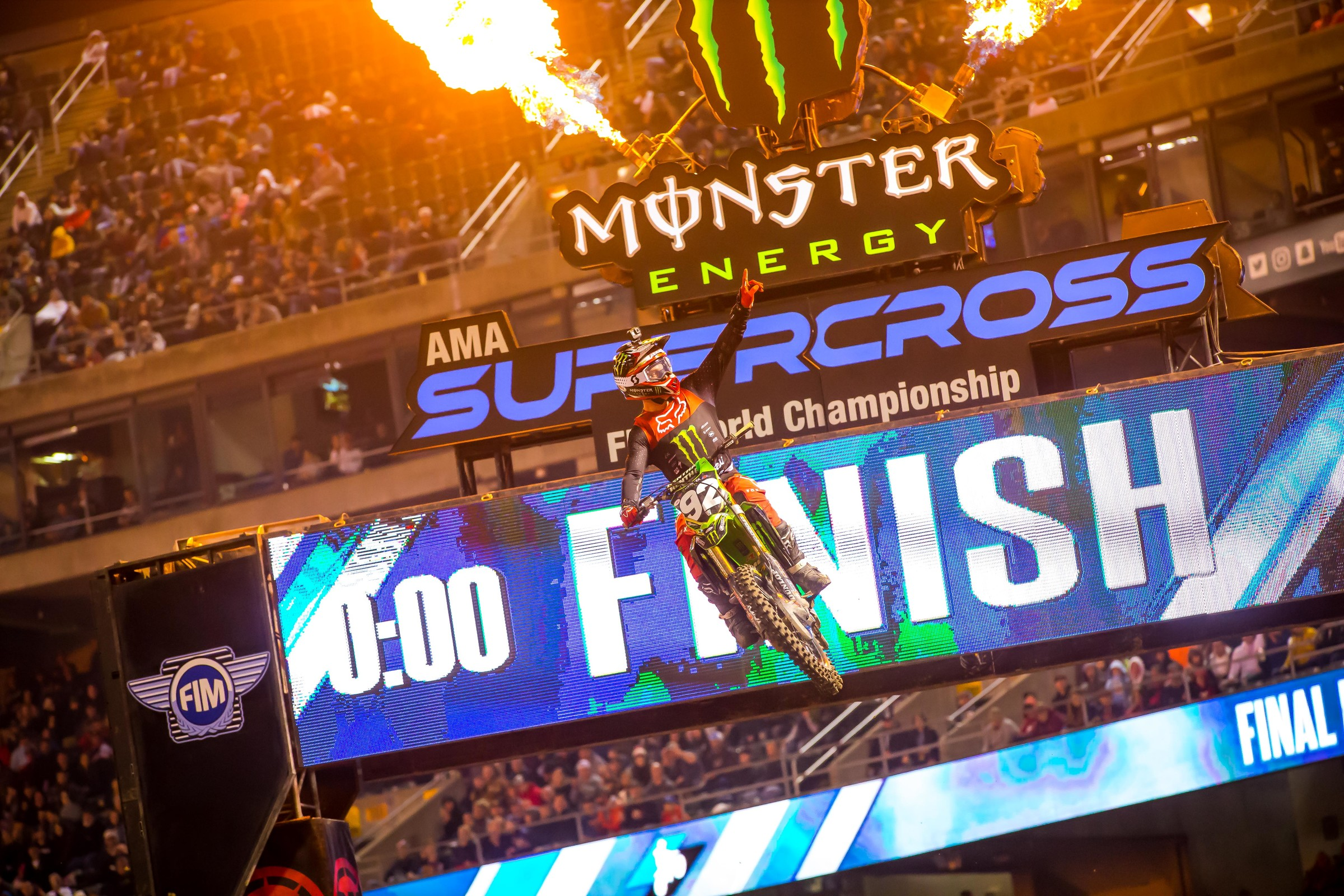 Adam Cianciarulo logged his second win of the season tonight in Oakland.
