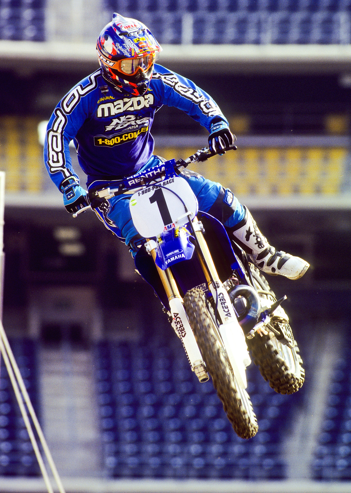 Of McGrath's seven supercross titles, he wasn't leading after four rounds in only one of them, 1999.