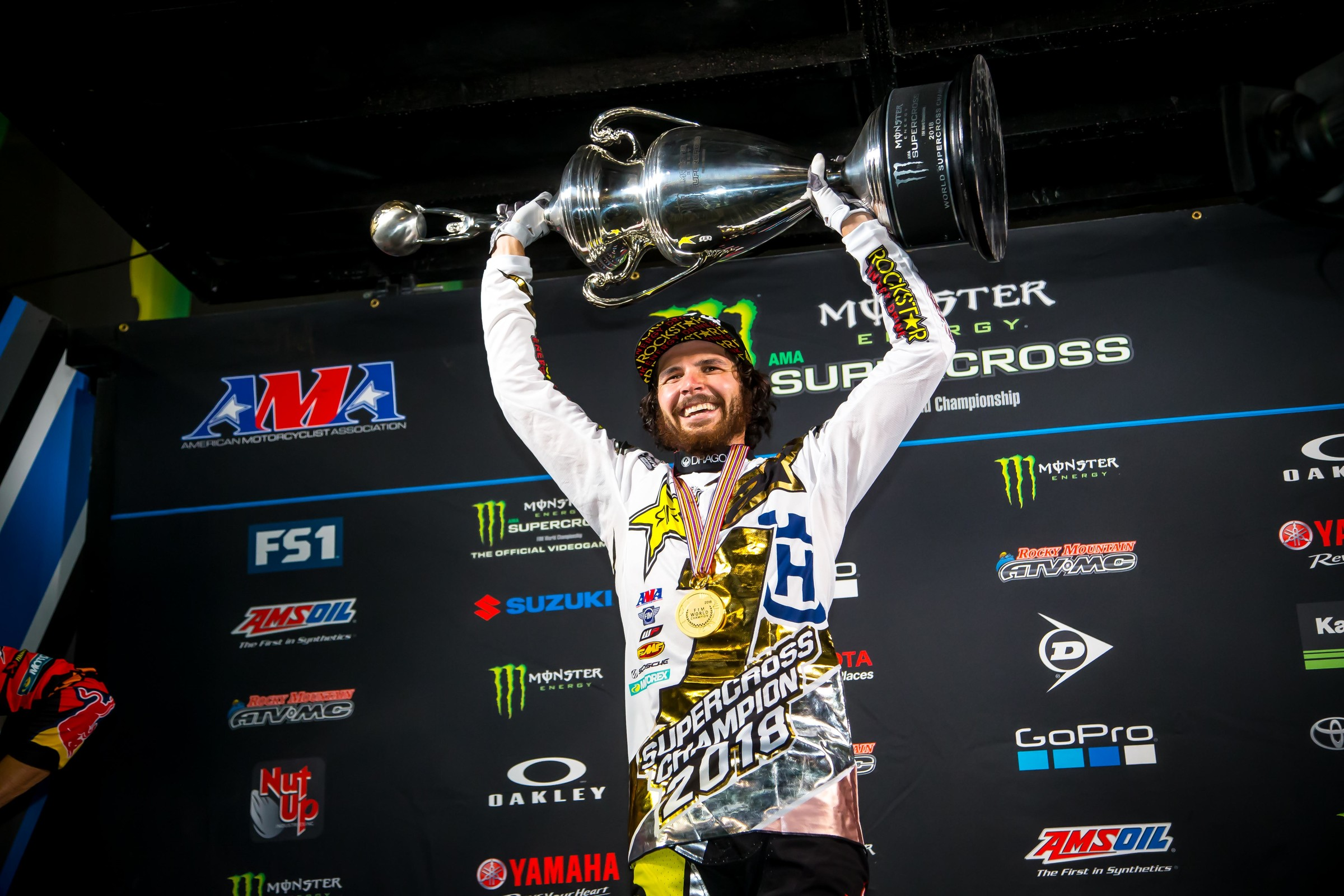 Jason Anderson led the 450SX in points after the first four rounds last season, and hoisted the Monster Energy AMA Supercross trophy after the season finale in Las Vegas.