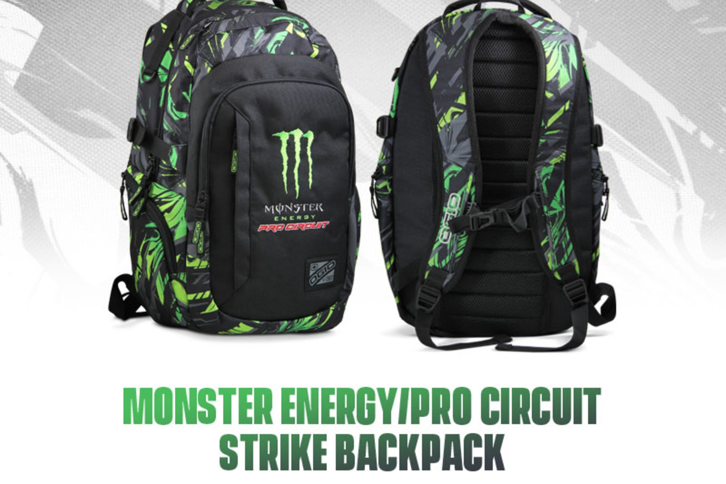 Monster Energy/Pro Circuit Strike Backpack Available now