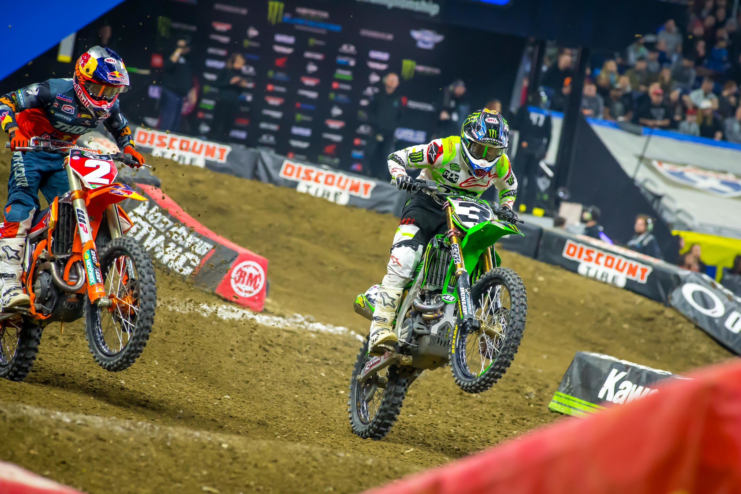 We saw Eli Tomac respond from his bad weekend in Arlington when he came out flying early in Detroit.