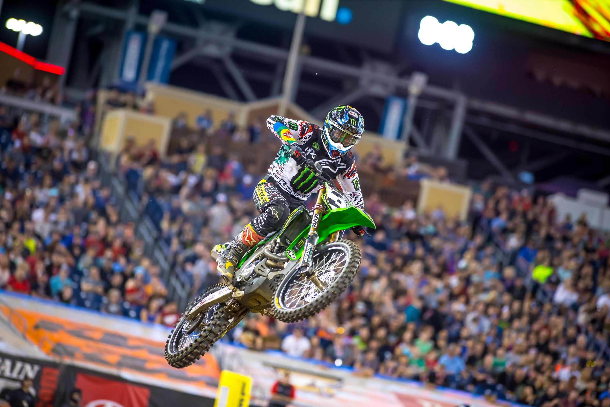 """I either feel right or I don't,"" Tomac said. ""You have to have a big window for feeling right, and my window has been too tight, like when you're feeling the track. Tonight I felt the best of any race I've won. Detroit was comparable, but it's good to do that in a full-length main."""