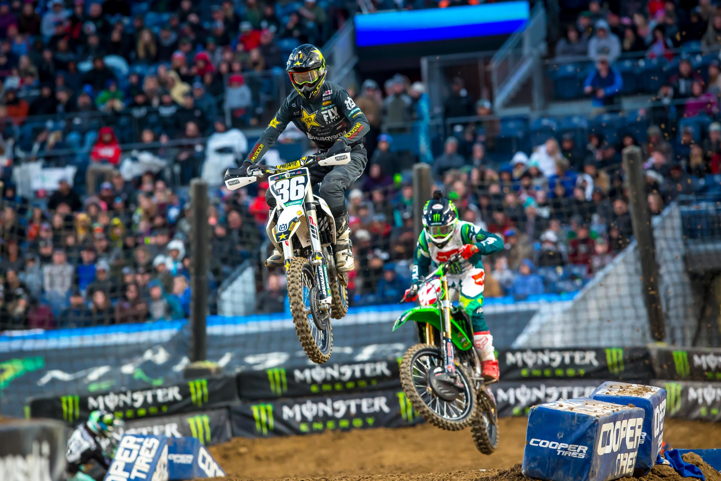 Michael Mosiman put up a heck of a battle with Cianciarulo for the early lead.