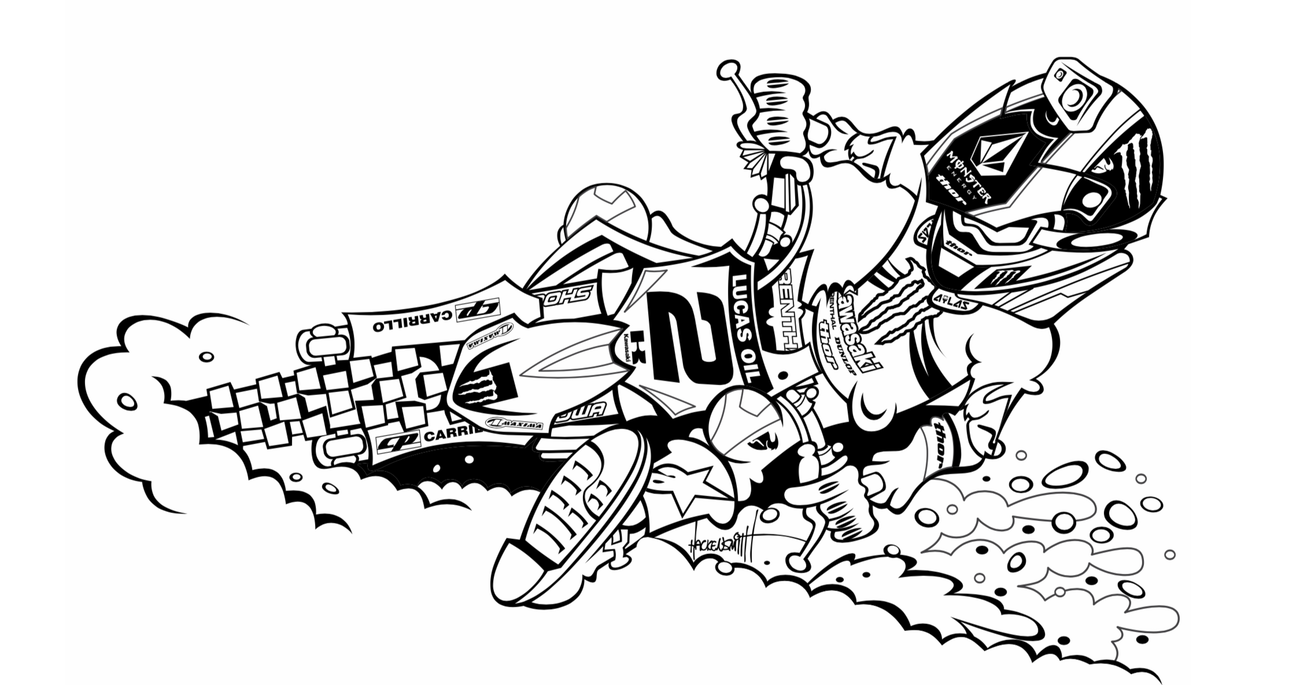 Free Motocross Bikes Coloring Pages, Download Free Clip Art, Free ... | 685x1300