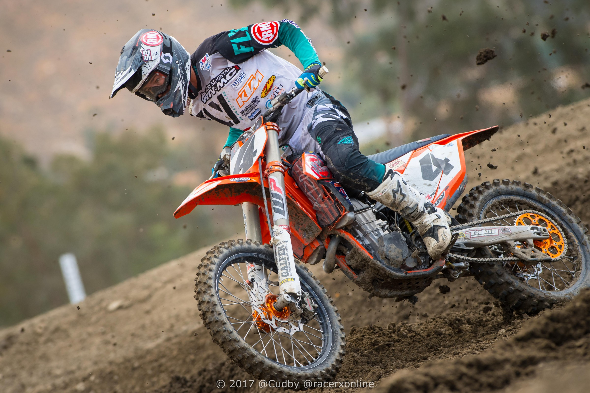 Baggett started out great at Hangtown last year, passing Tomac and finishing third in the first moto