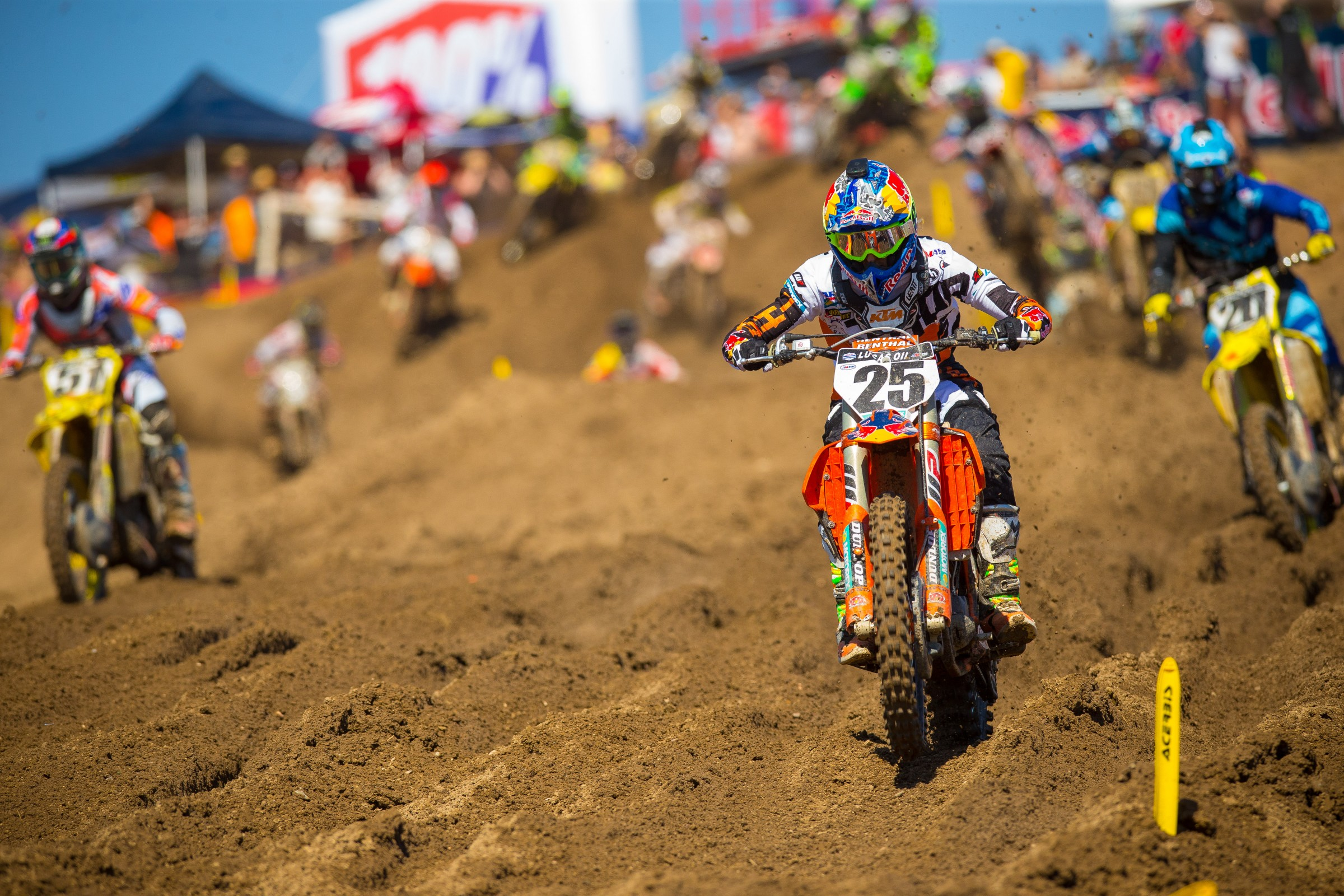 Musquin was four laps away from winning the opening round of Pro Motocross.