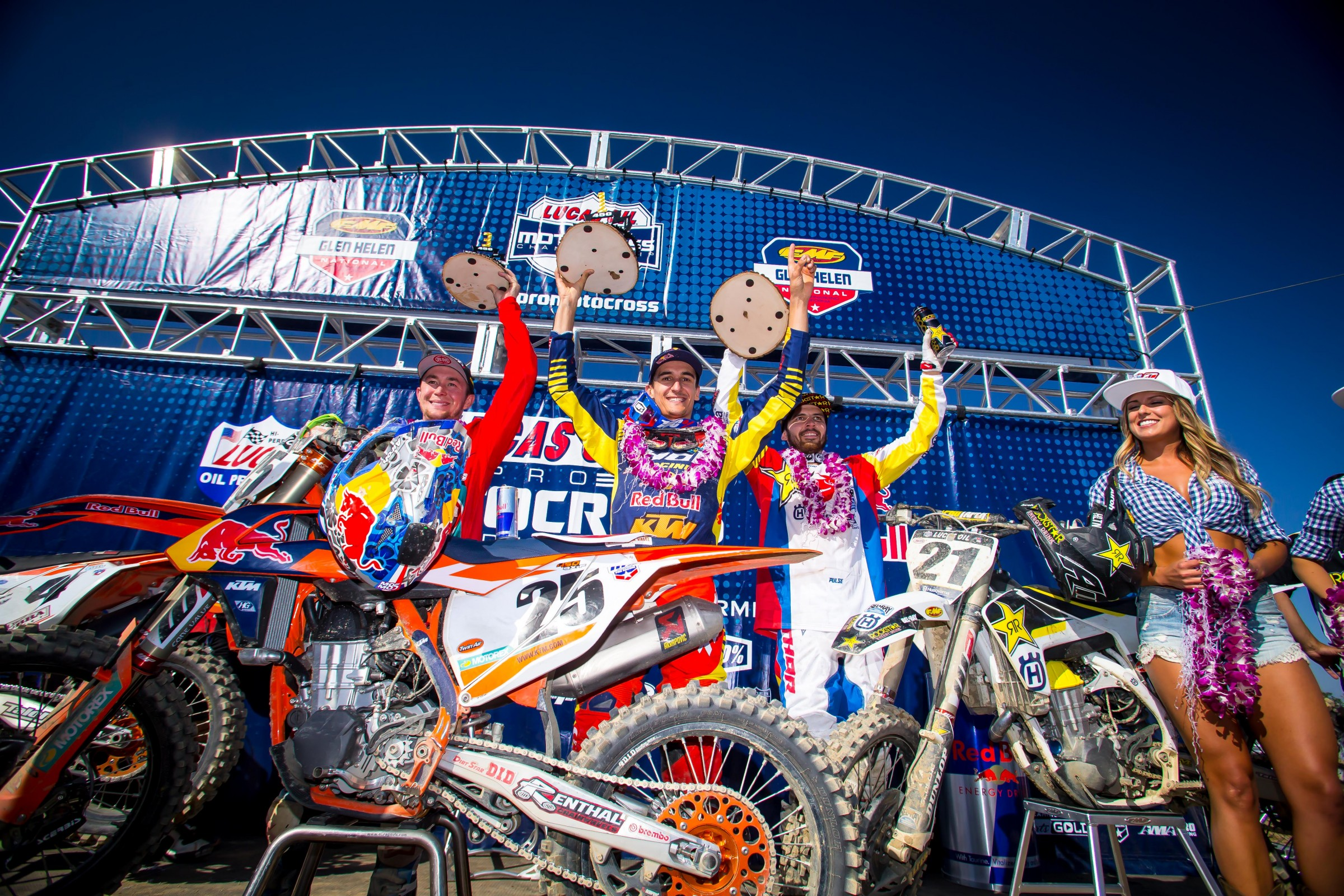Austria owned the 450MX podium at Glen Helen.