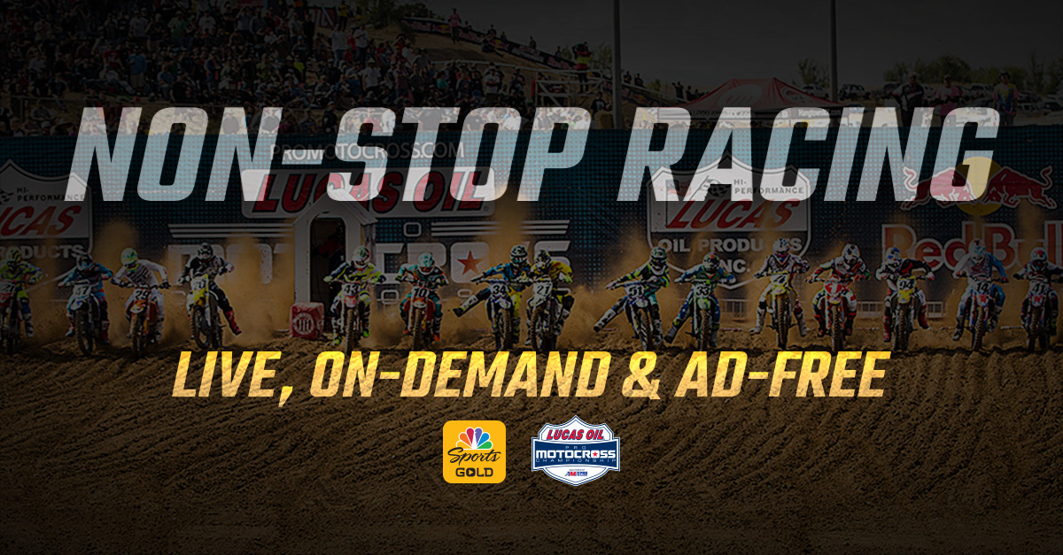 Sign up for the NBC Sports Gold Pass to watch every moto live and on-demand.
