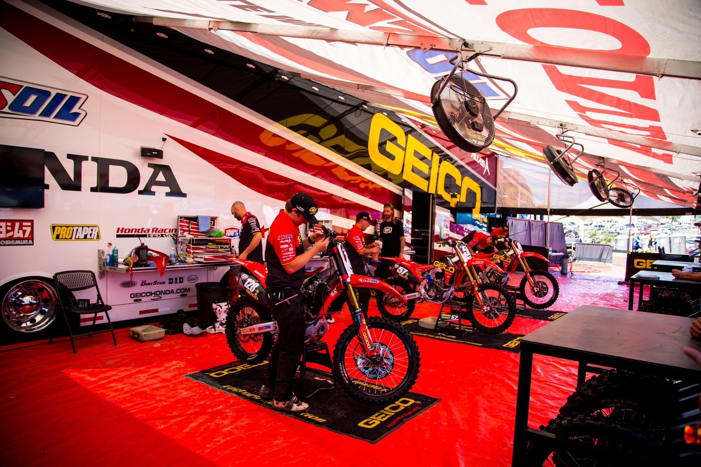 Things are about to get a little more cramped underneath the GEICO Honda tent.