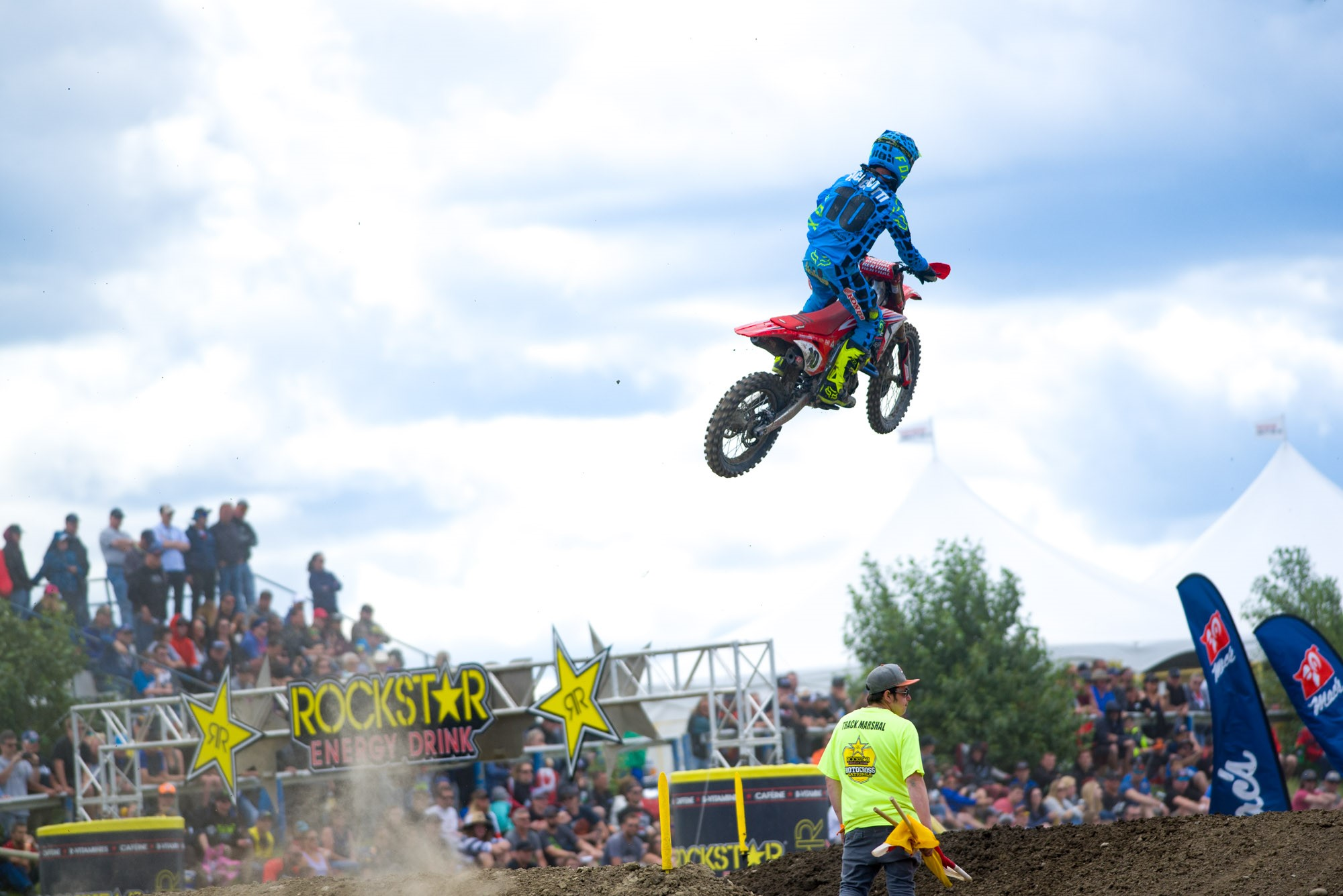 Honda Canada GDR Fox Racing's Colton Facciotti 4-2 moto scores earned him third overall on the day.