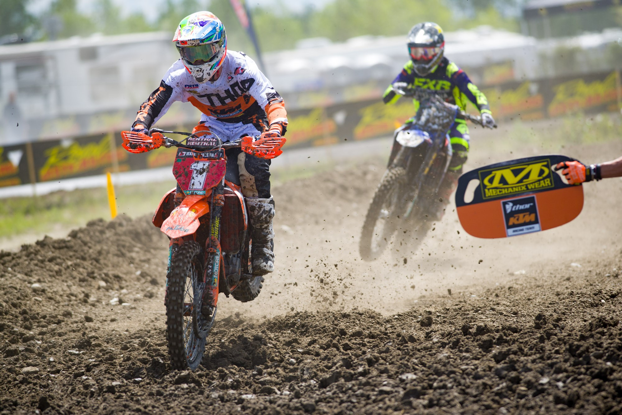 KTM Canada Thor Racing's Cole Thompson will leave Calgary with the red plate still on his motorcycle.