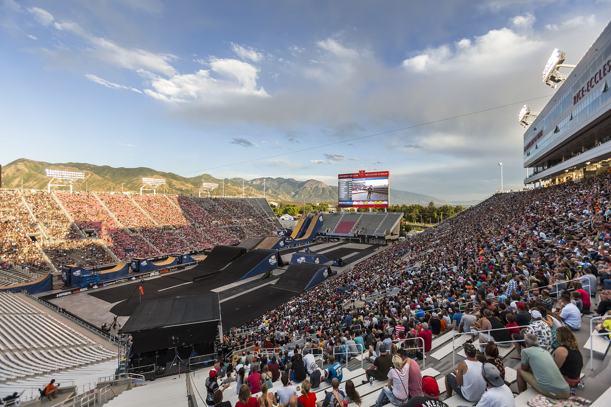 The first Nitro World Games at Rice-Eccles Stadium was pretty well attended for a first time event.