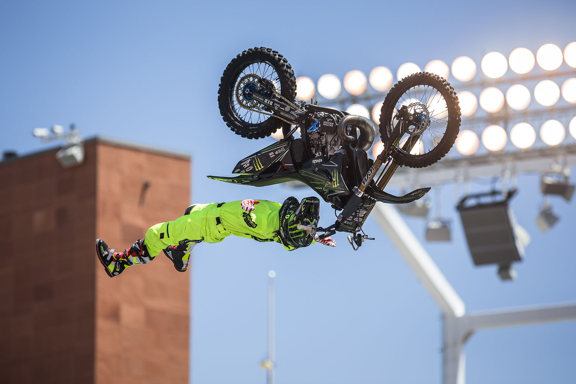 As crazy as it may seem, this trick is pretty standard at the Nitro World Games.