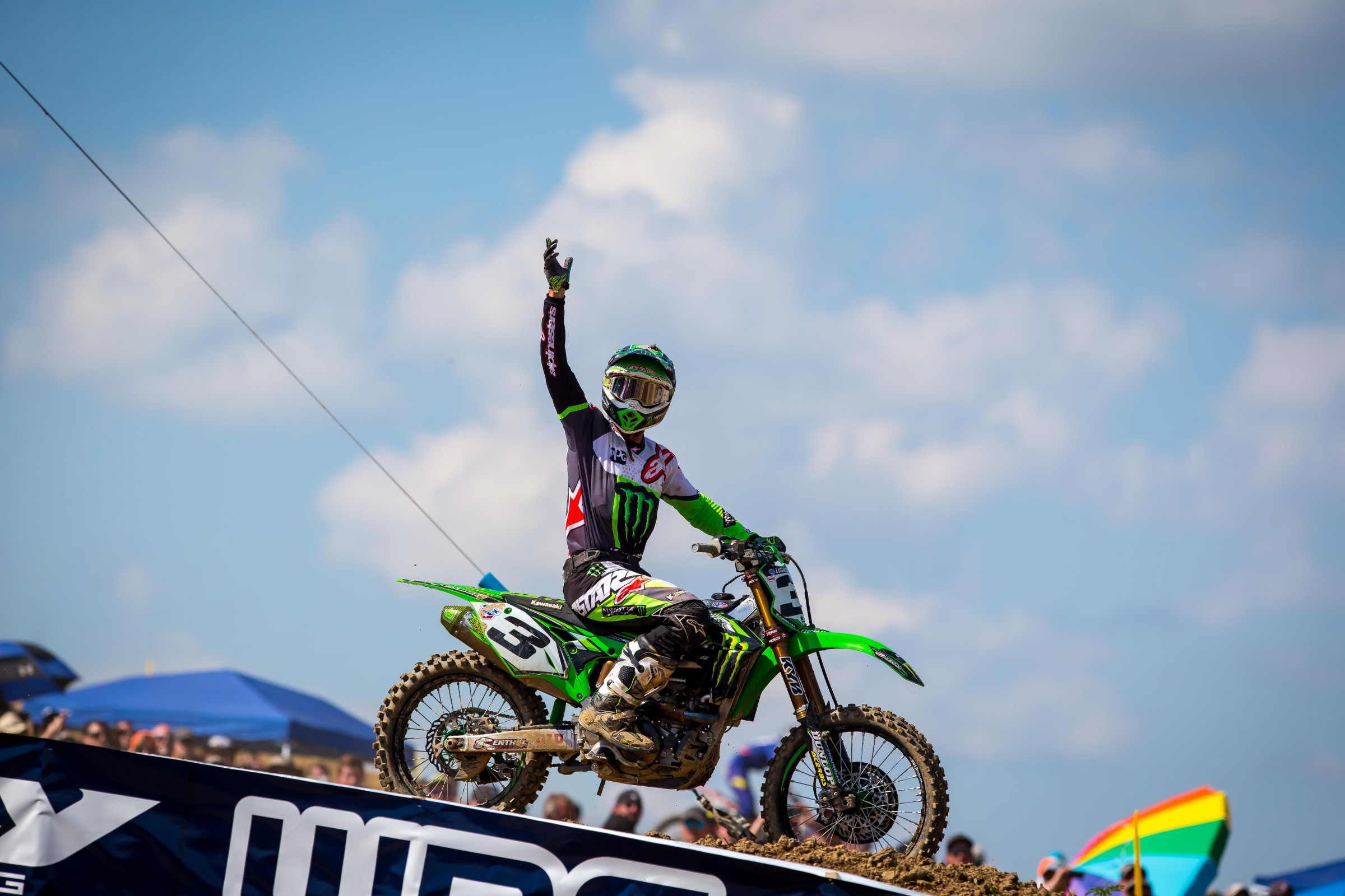 Tomac got his first moto win since the second moto at Hangtown.