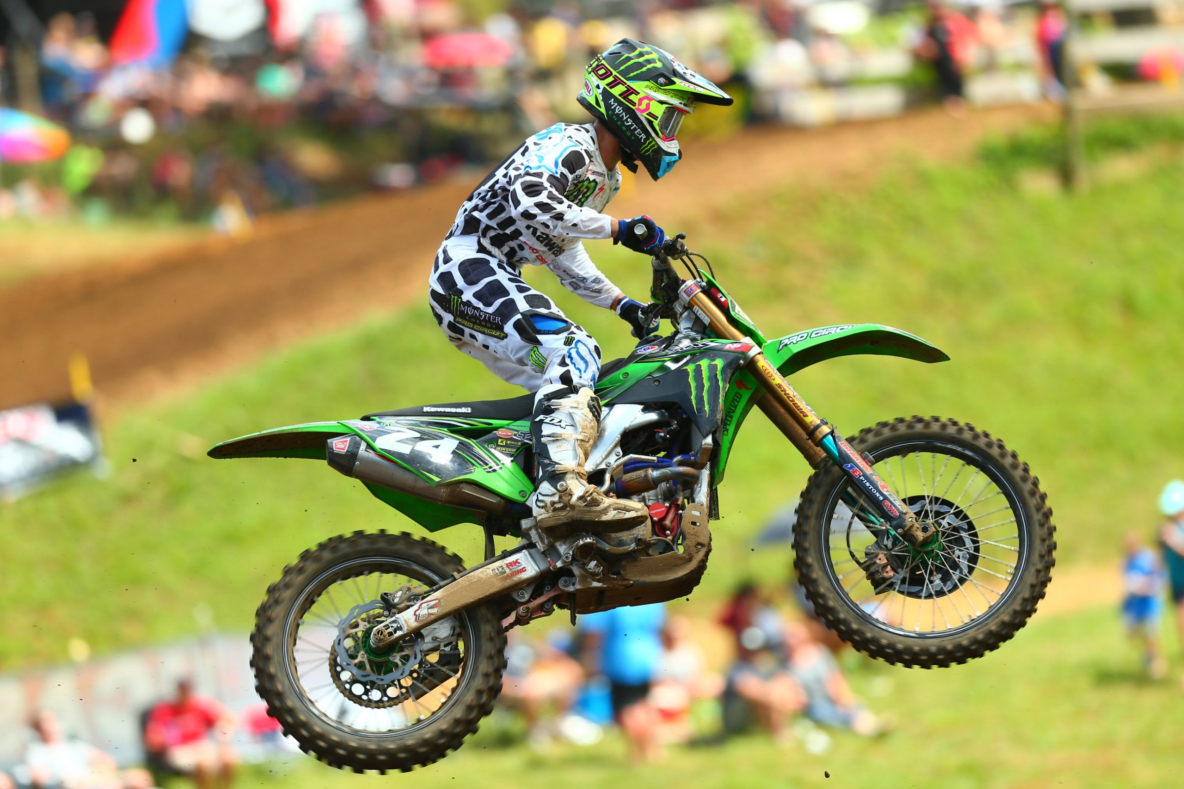 Forkner finally got an overall podium. Where you started was where you finished on this day in the 250s, so luckily he started third each time.