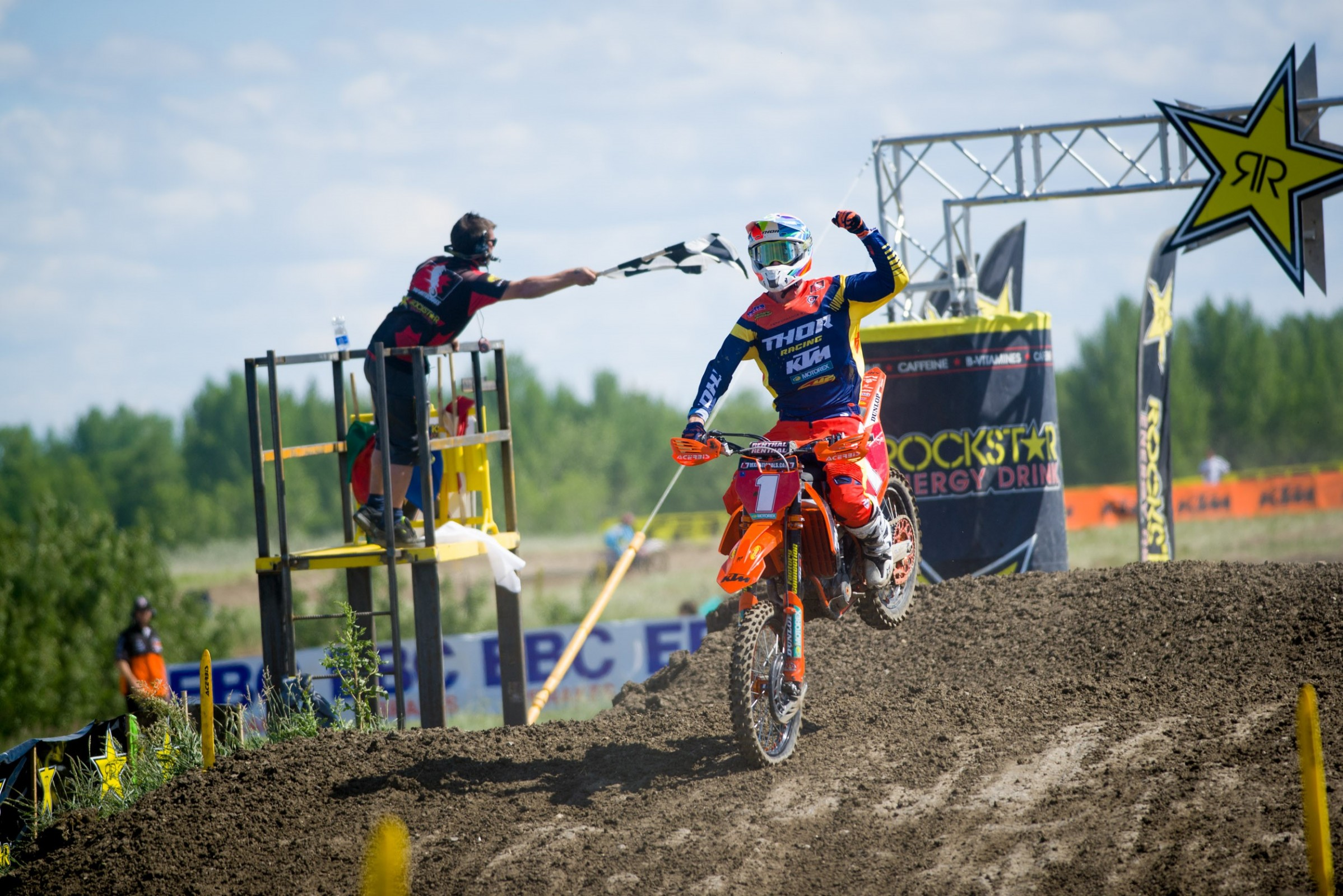 KTM Canada Thor Racing's Cole Thompson was a perfect 1-1 at the Moto Valley Raceway in Regina.