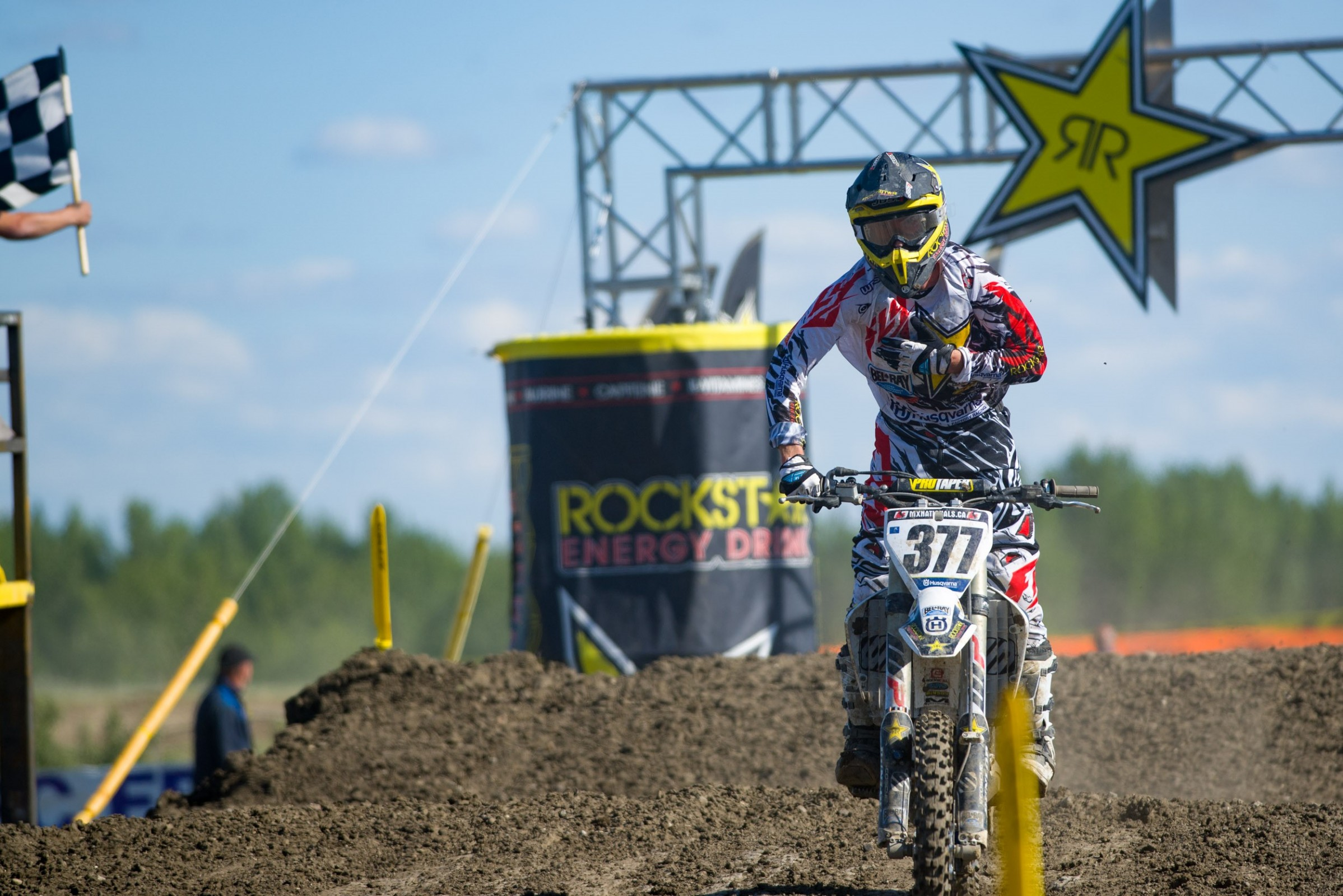 Rockstar Husqvarna's Christophe Pourcel came out flying in Round 4 and took the fastest qualifier position on the last lap of practice.