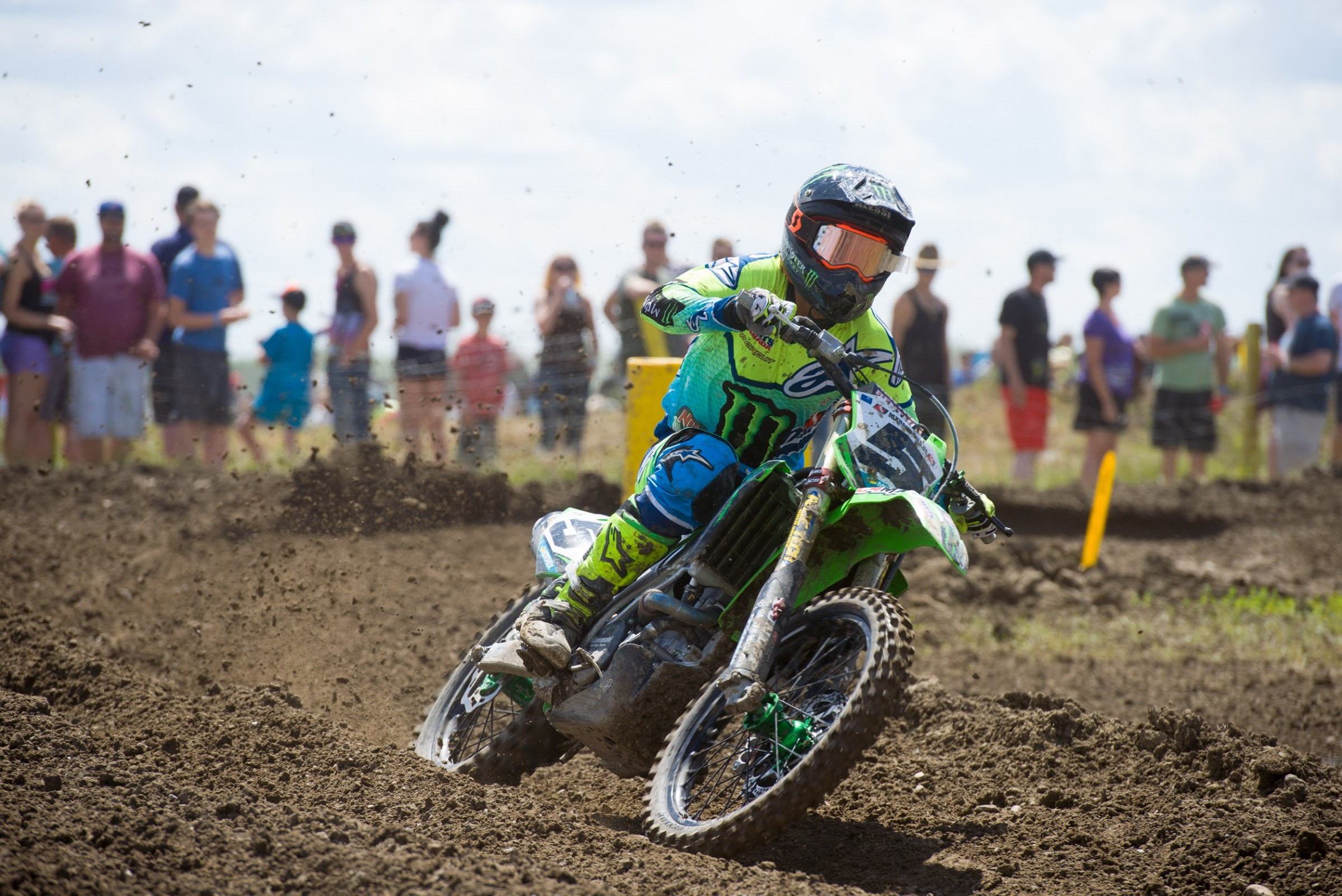 Monster Energy Alpinestars Kawasaki's Mike Alessi is starting to look more like his old self and was third overall in Regina.