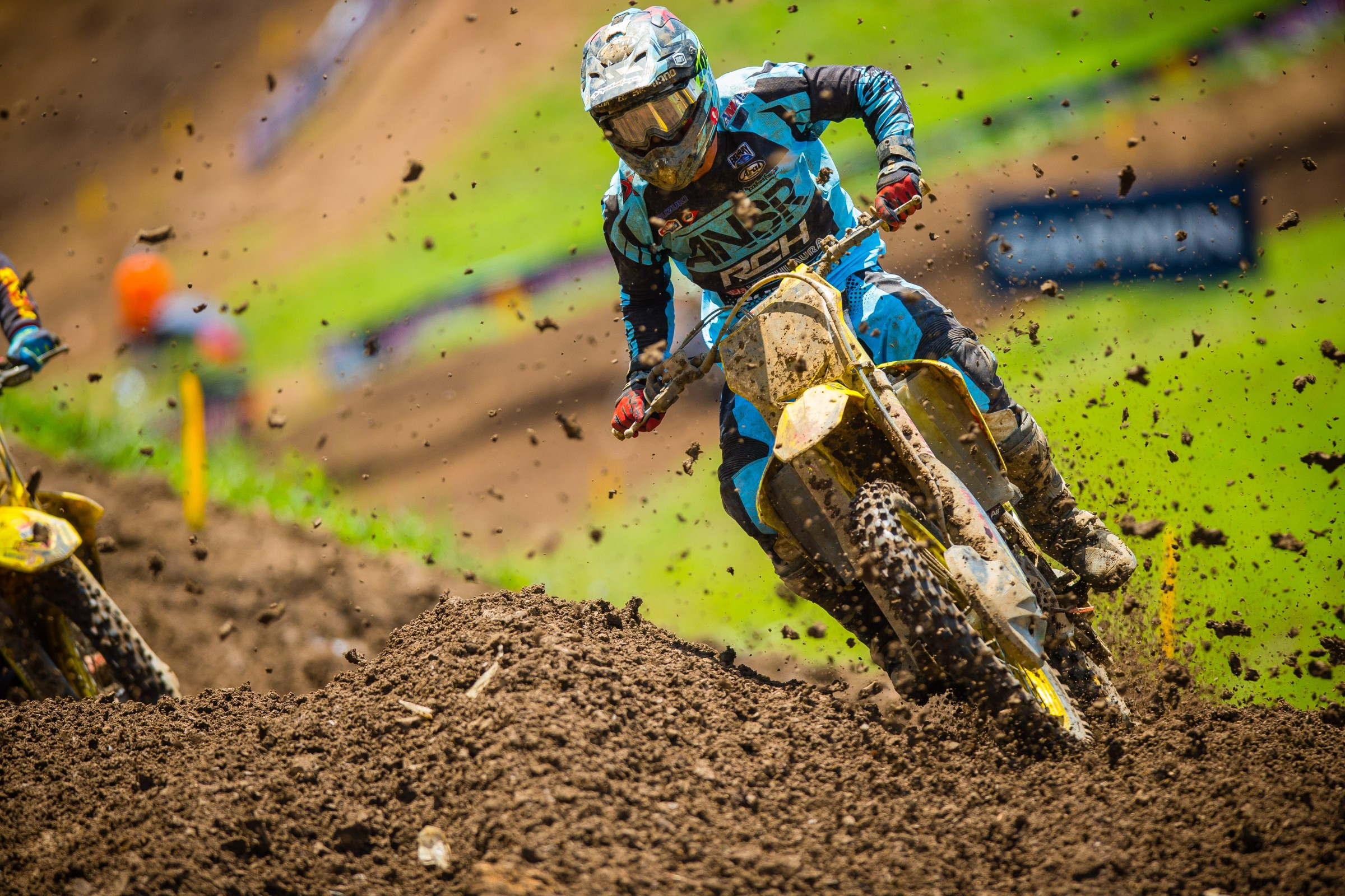 Justin Bogle bounced back in the second moto to finish seventh overall.