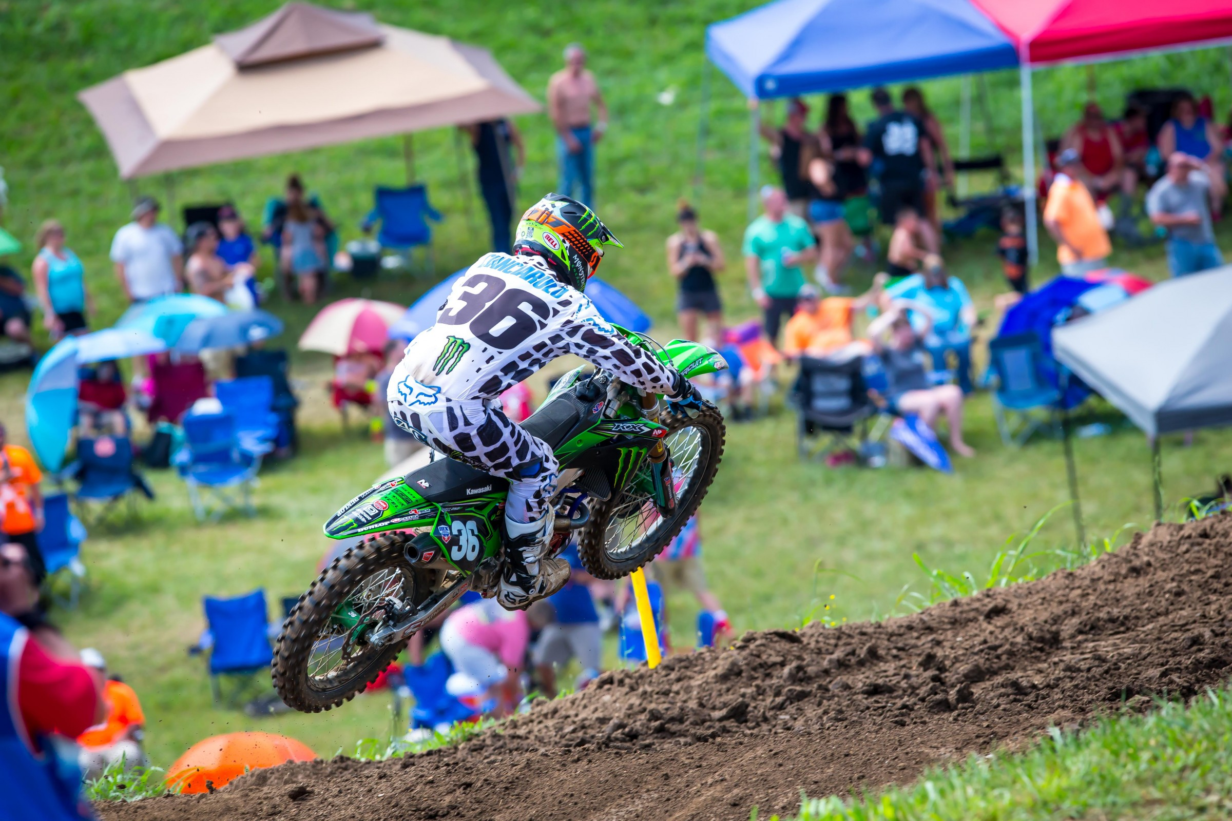 AC had his best moto finish since the opening moto at Hangtown on Saturday.