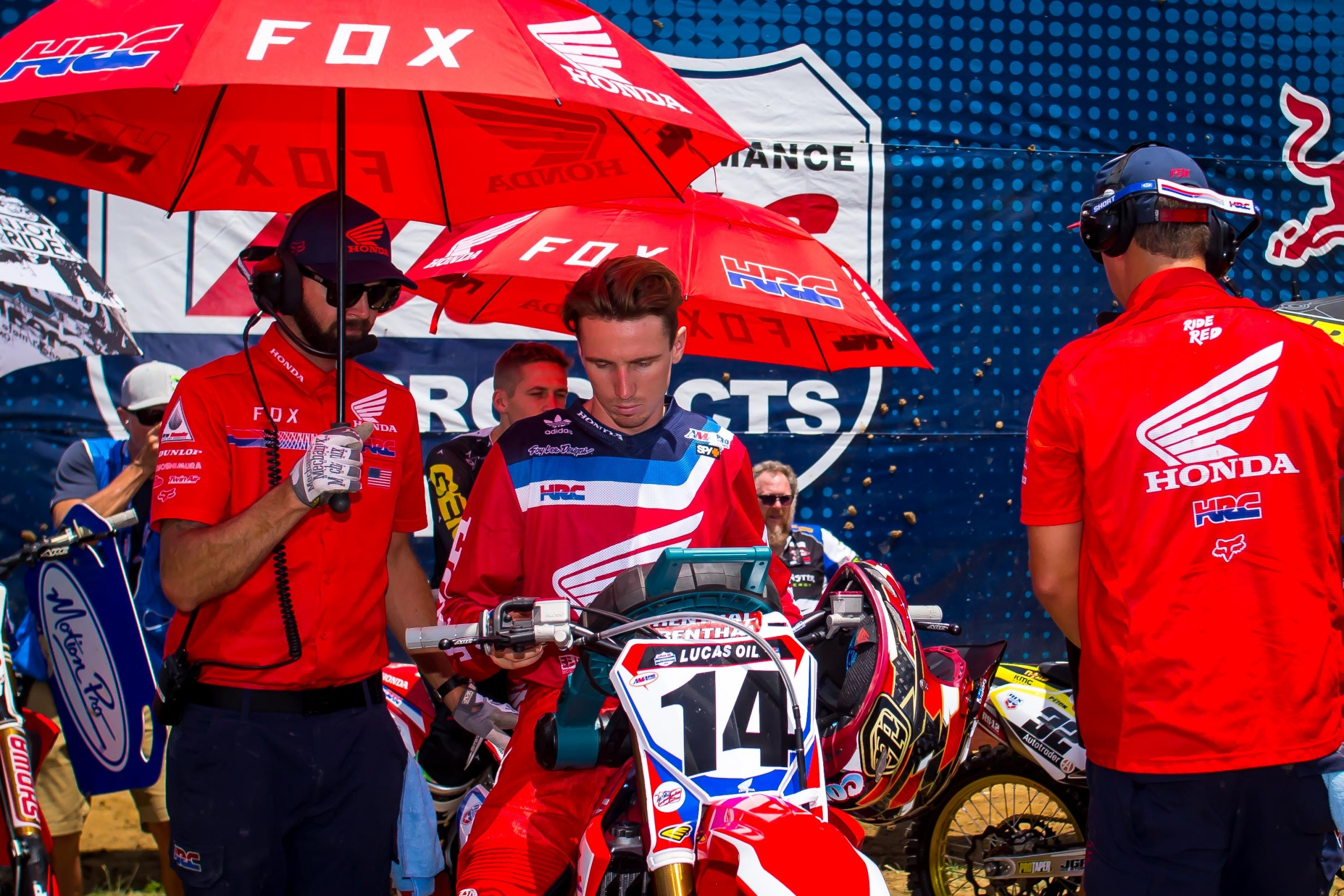 Mandie has been with Honda HRC for more than five years and works with riders like Cole Seely (above), Christian Craig, and Ken Roczen.