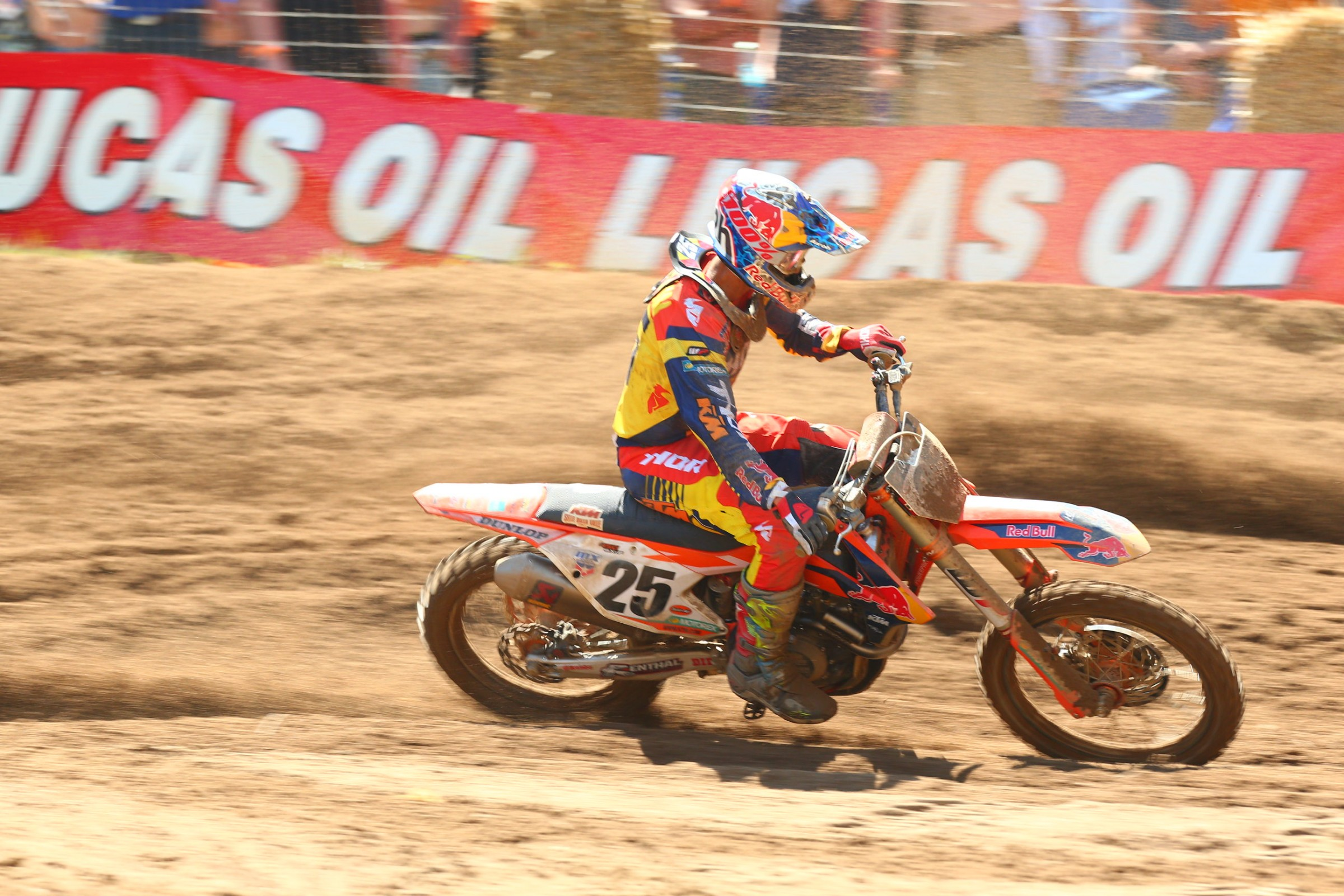 Musquin was the second-fastest 450 rider, but crashes in both motos held him to 4-DNF finishes.