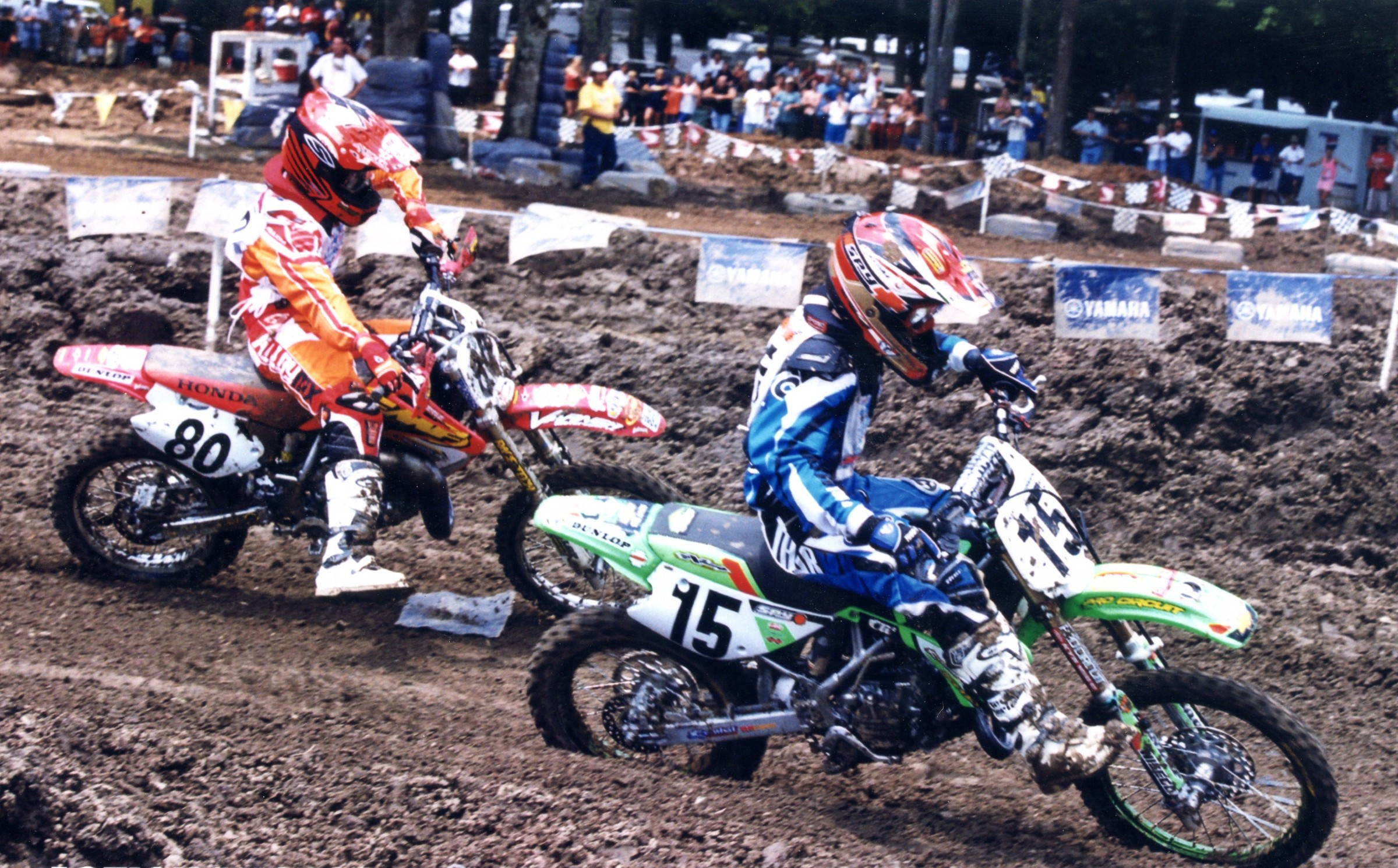 One of the many Alessi (#80) versus Villopoto (#15)  battles.