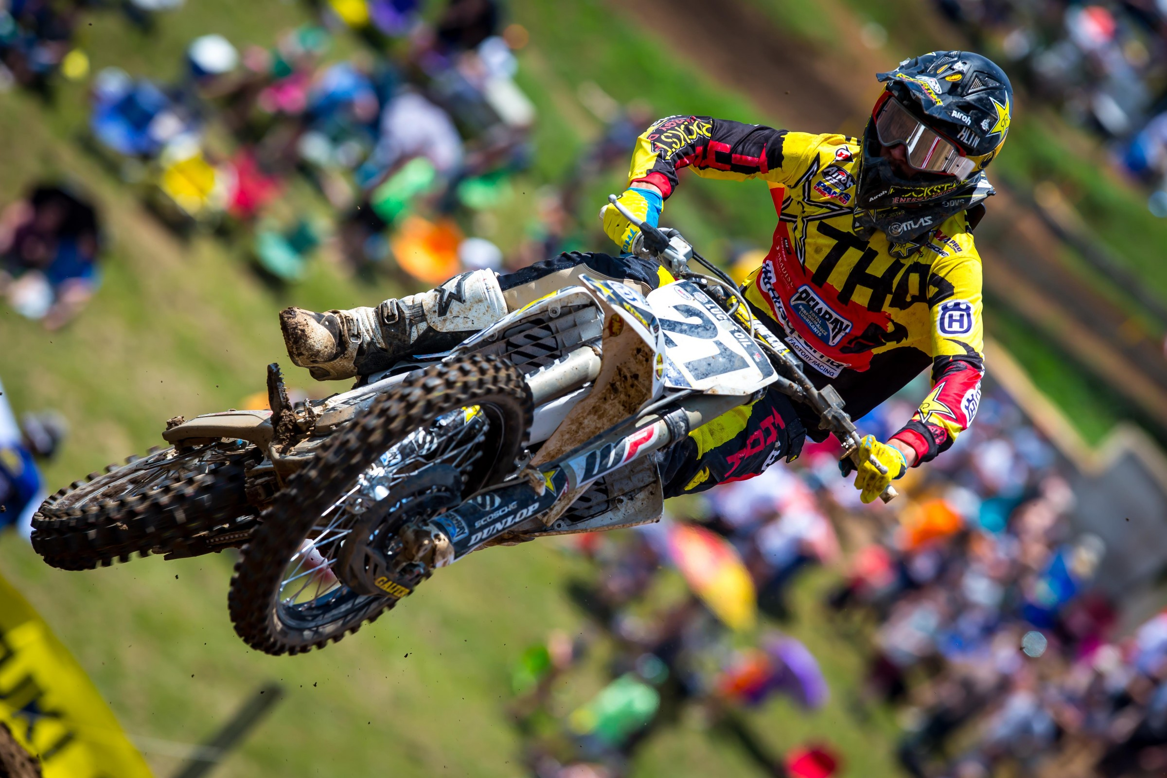 Jason Anderson and Eli Tomac led every lap of both 450 motos at Muddy Creek.