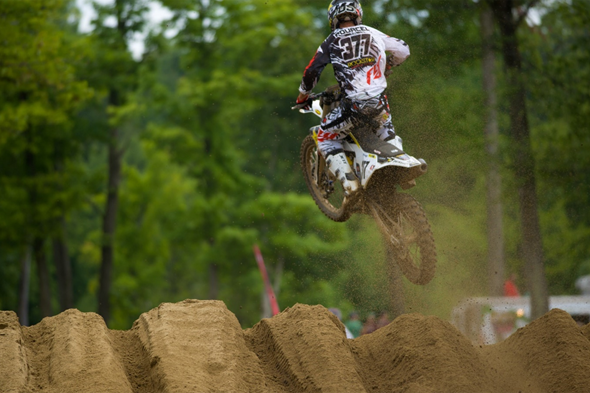 Rockstar Husqvarna's Christophe Pourcel came into the weekend on a mission and was the fastest qualifier in the MX1 class.
