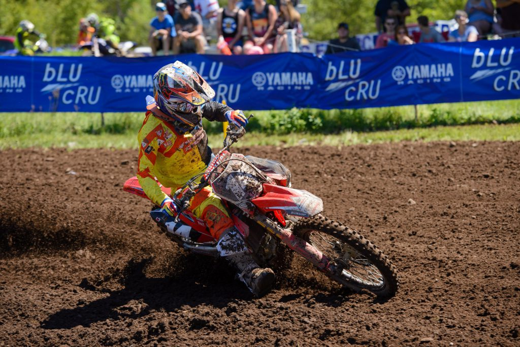 Honda Canada GDR Fox Racing's Dylan Wright 3-3 moto finishes earned him third overall on the day.