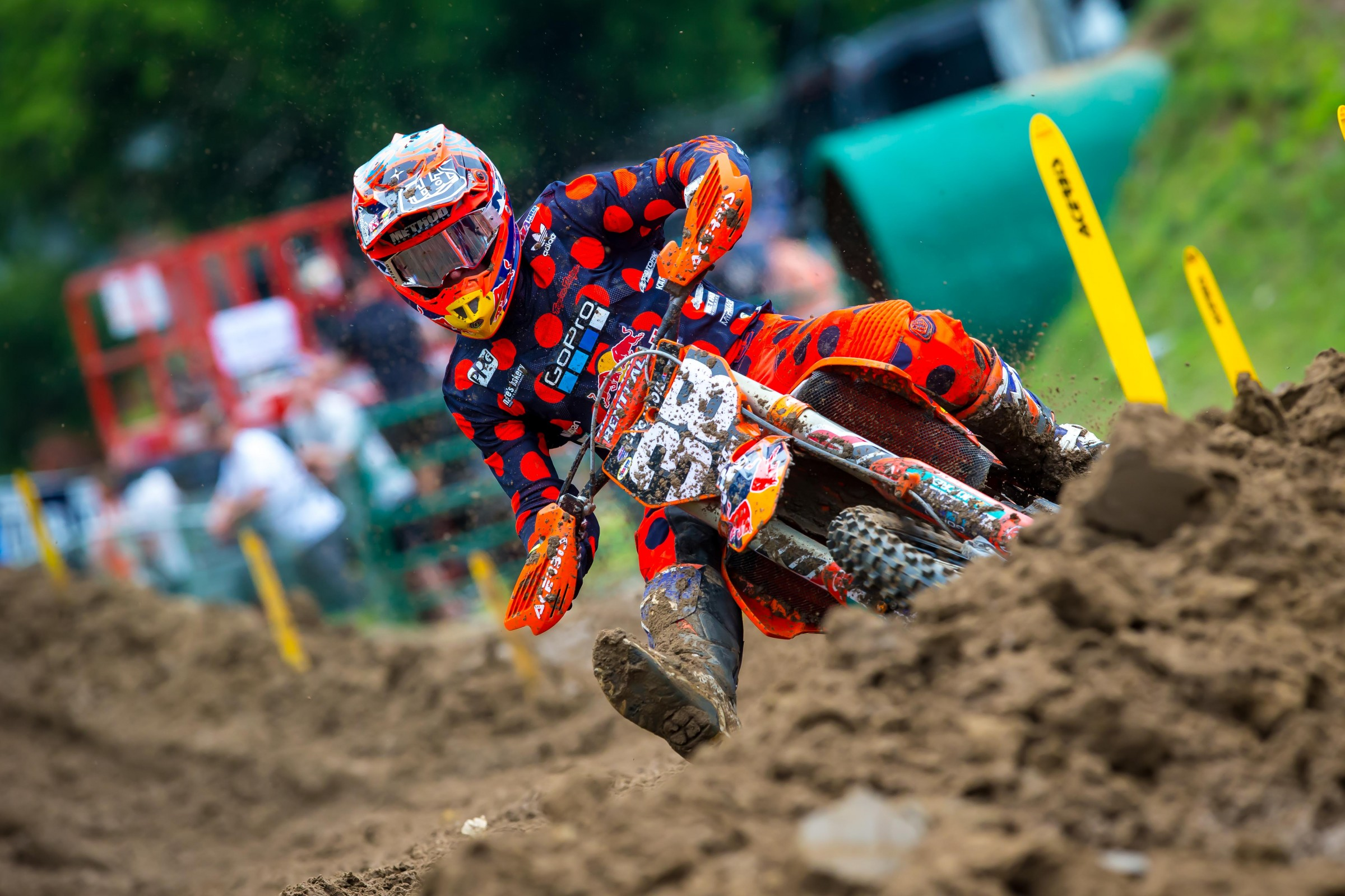 McElrath has scored points in every moto this year, but he still sits 11th in the points standings—170 behind Osborne.