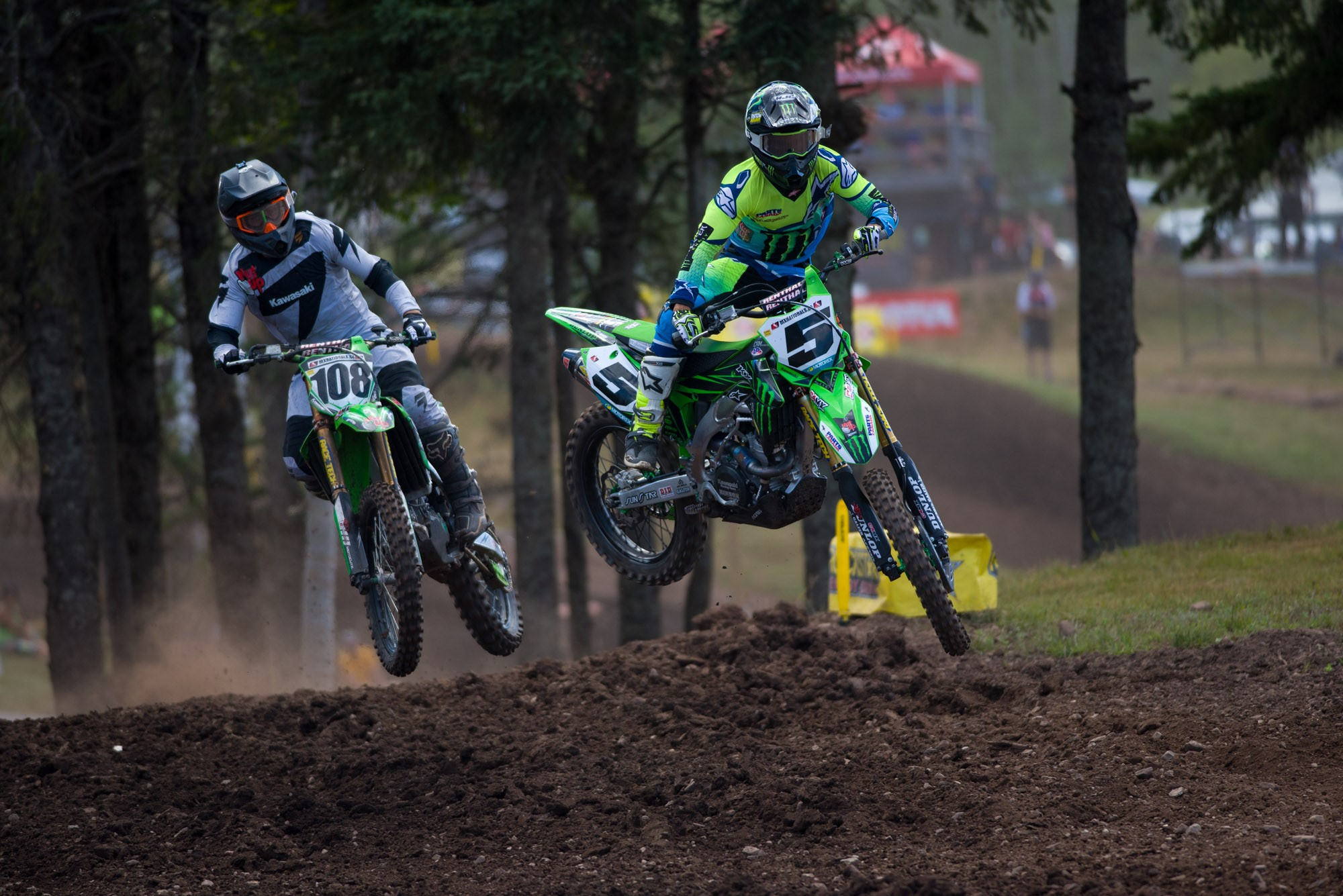 Monster Energy Alpinestars Kawasaki's Mike Alessi grabbed both holeshots and the Royal Distributing Triple Crown.